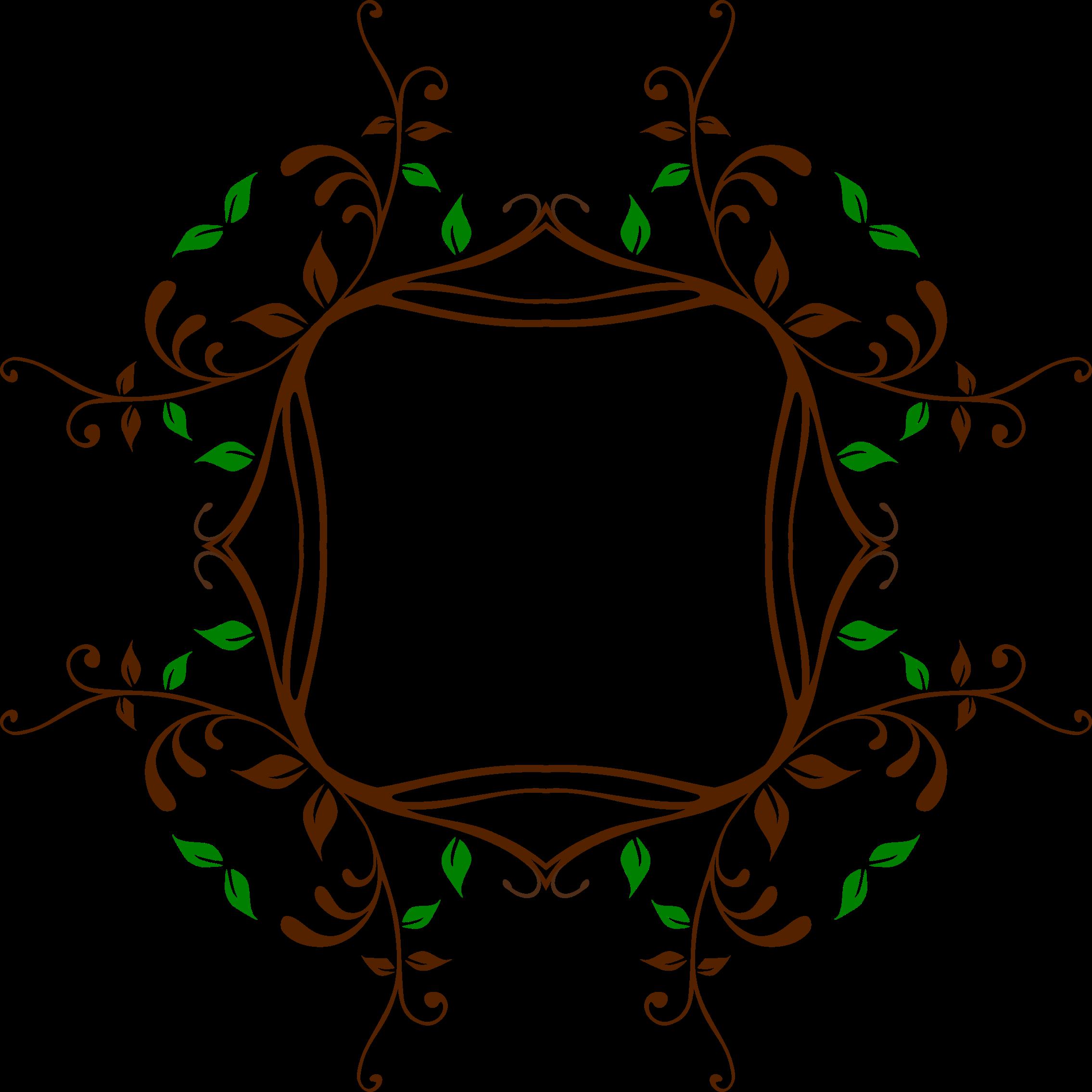 Leafy Vine Frame 4 by GDJ Leafy Vine Clipart