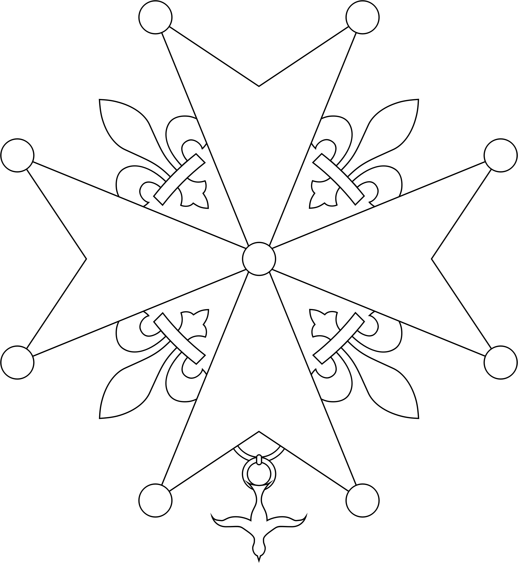 Huguenot Cross by OpenHeraldry