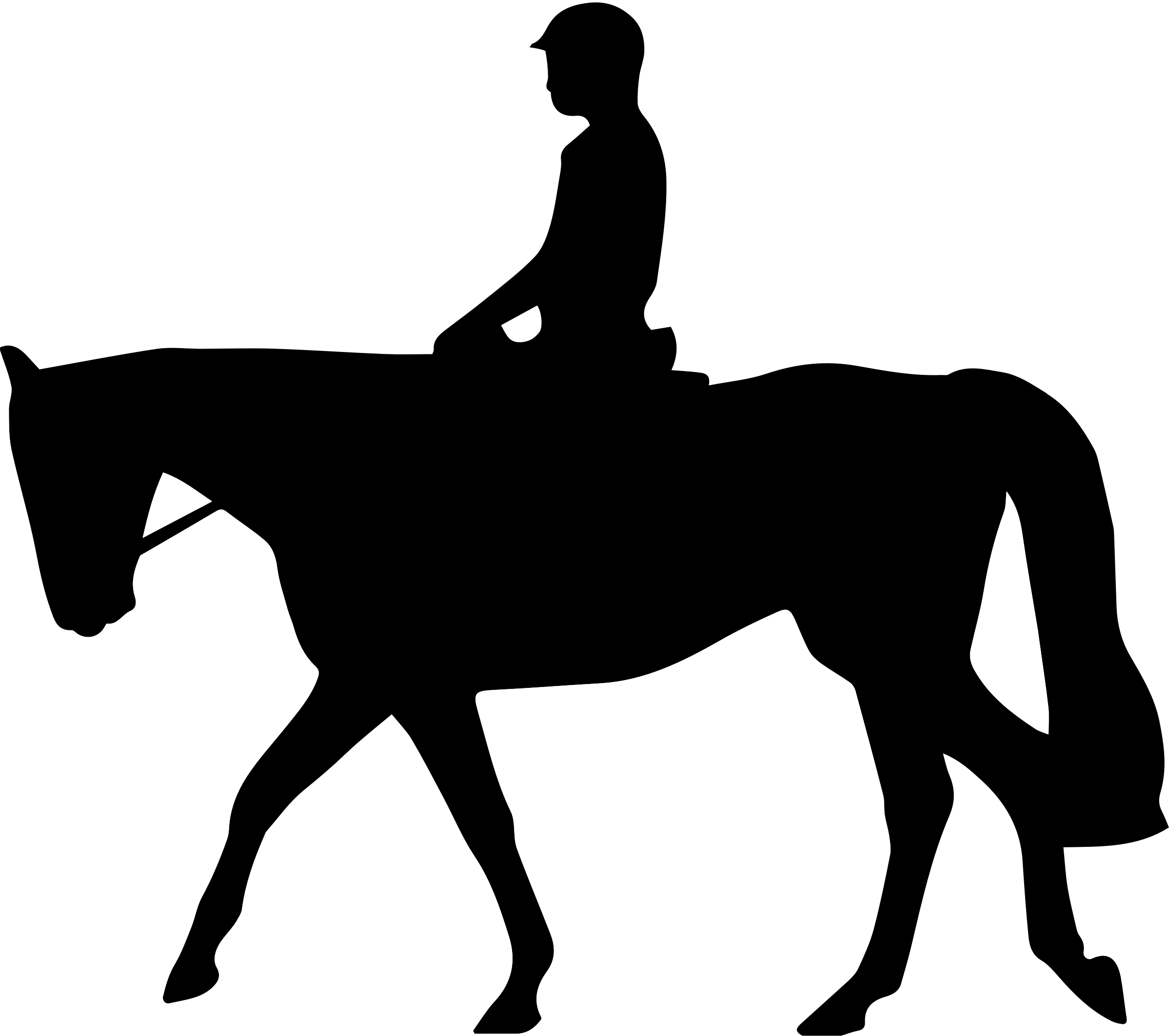 Horse silhouette dressage - photo#14