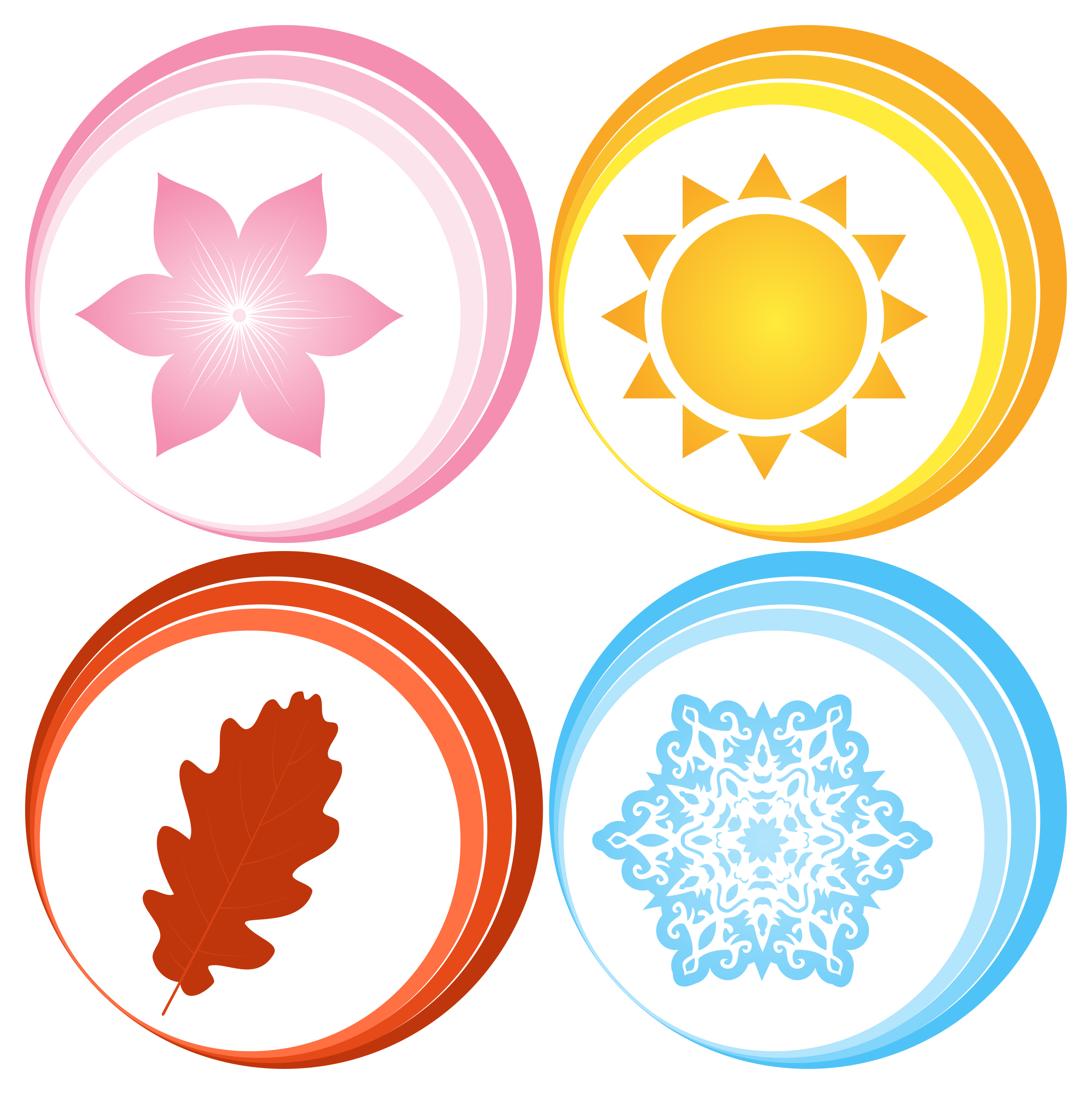 clipart four seasons symbols