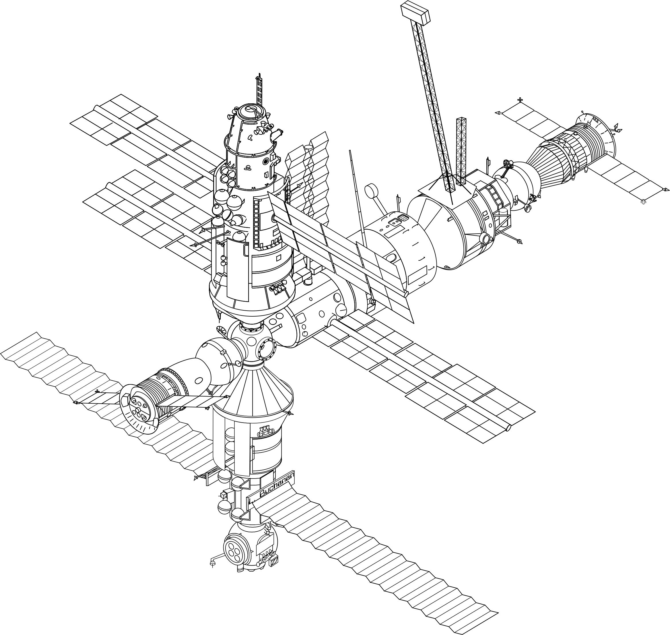 MIR Space Station (1994) by rygle
