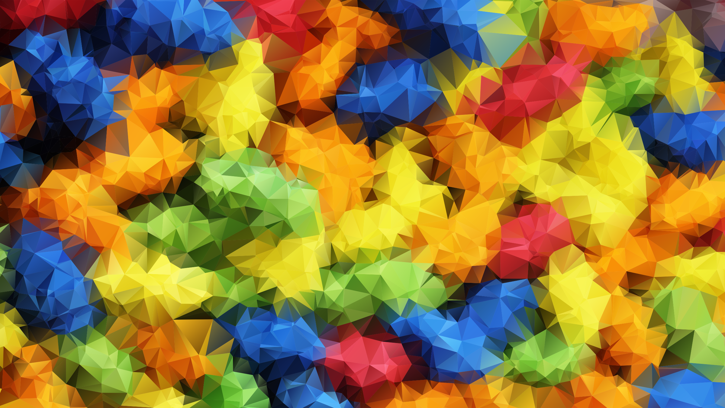 Vivid Prismatic Low Poly Background by GDJ