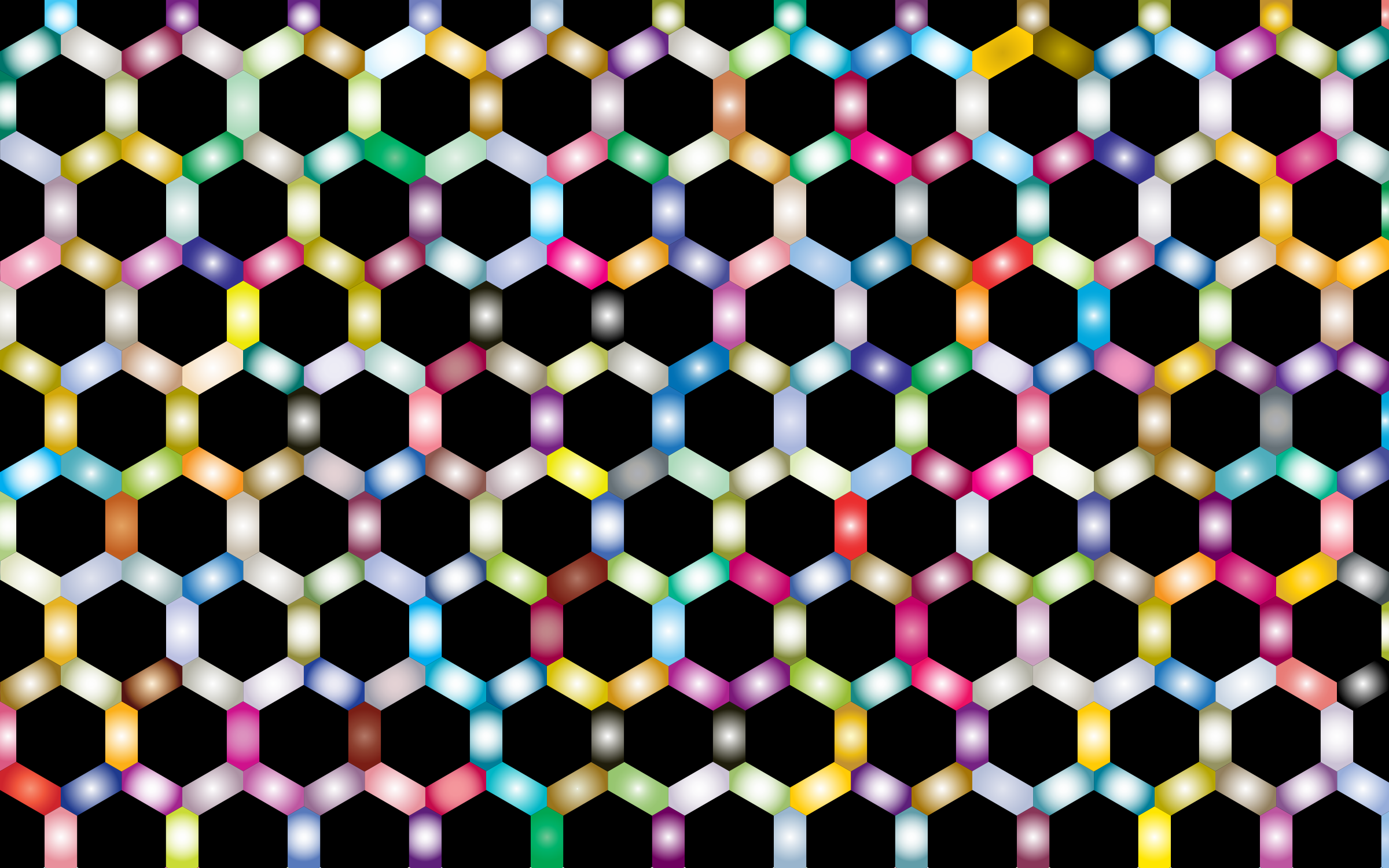 Prismatic Hexagonal Geometric Pattern 2 by GDJ
