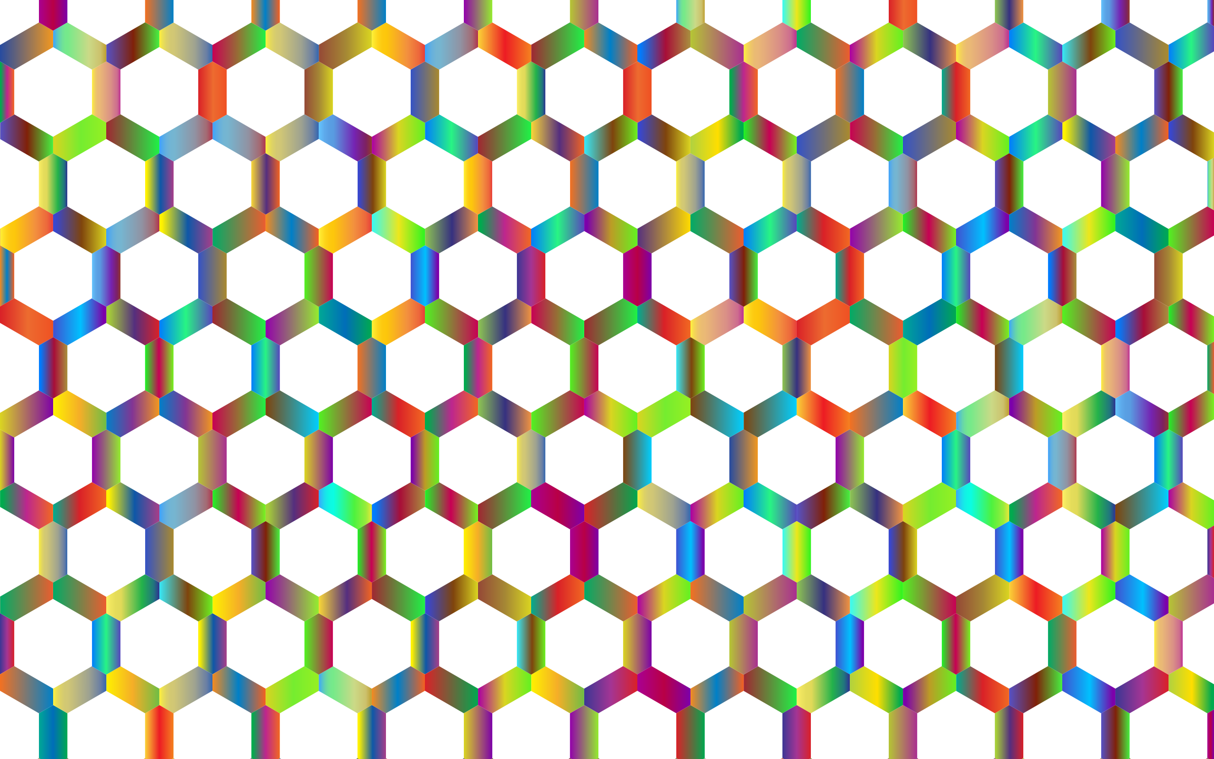 Prismatic Hexagonal Geometric Pattern 3 No Background by GDJ
