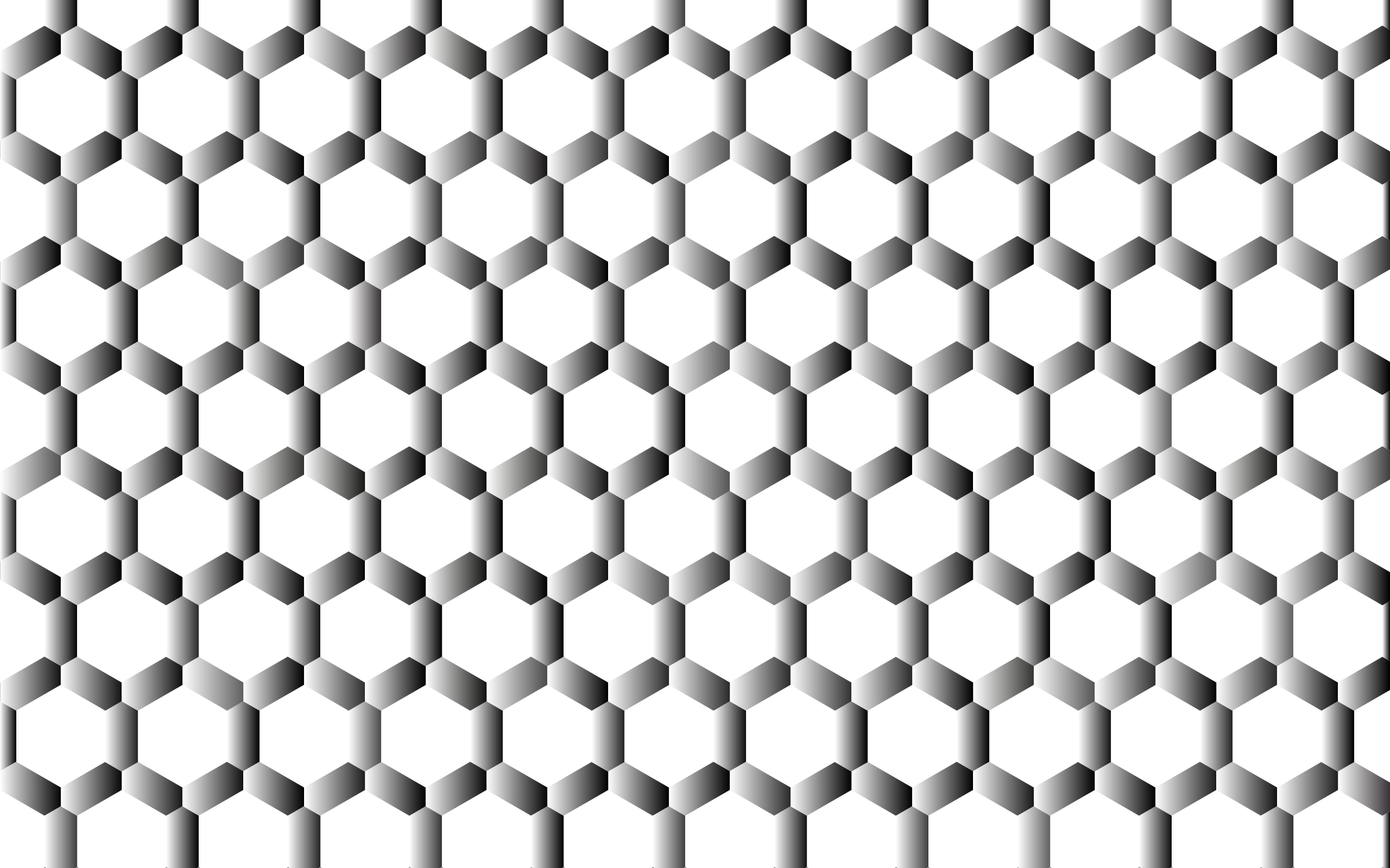 Prismatic Hexagonal Geometric Pattern 4 No Background by GDJ