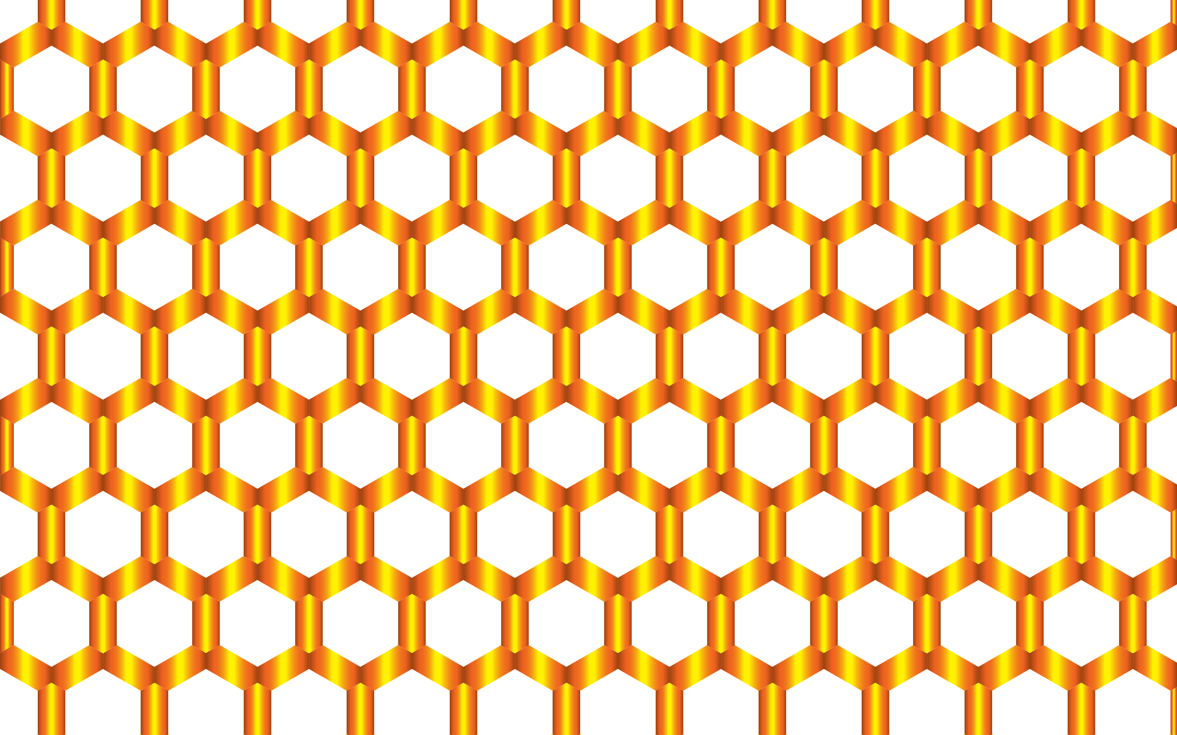 Prismatic Hexagonal Geometric Pattern 6 No Background by GDJ