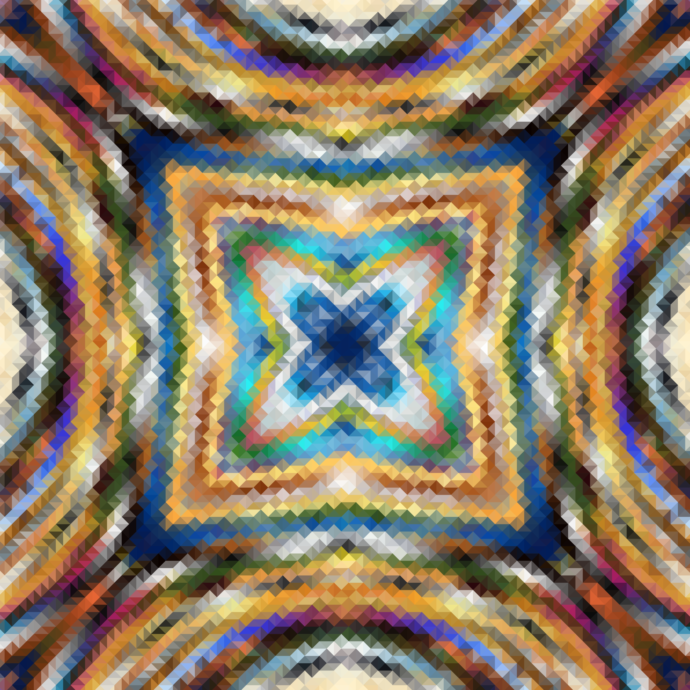 Psychedelic Square Mosaic by GDJ