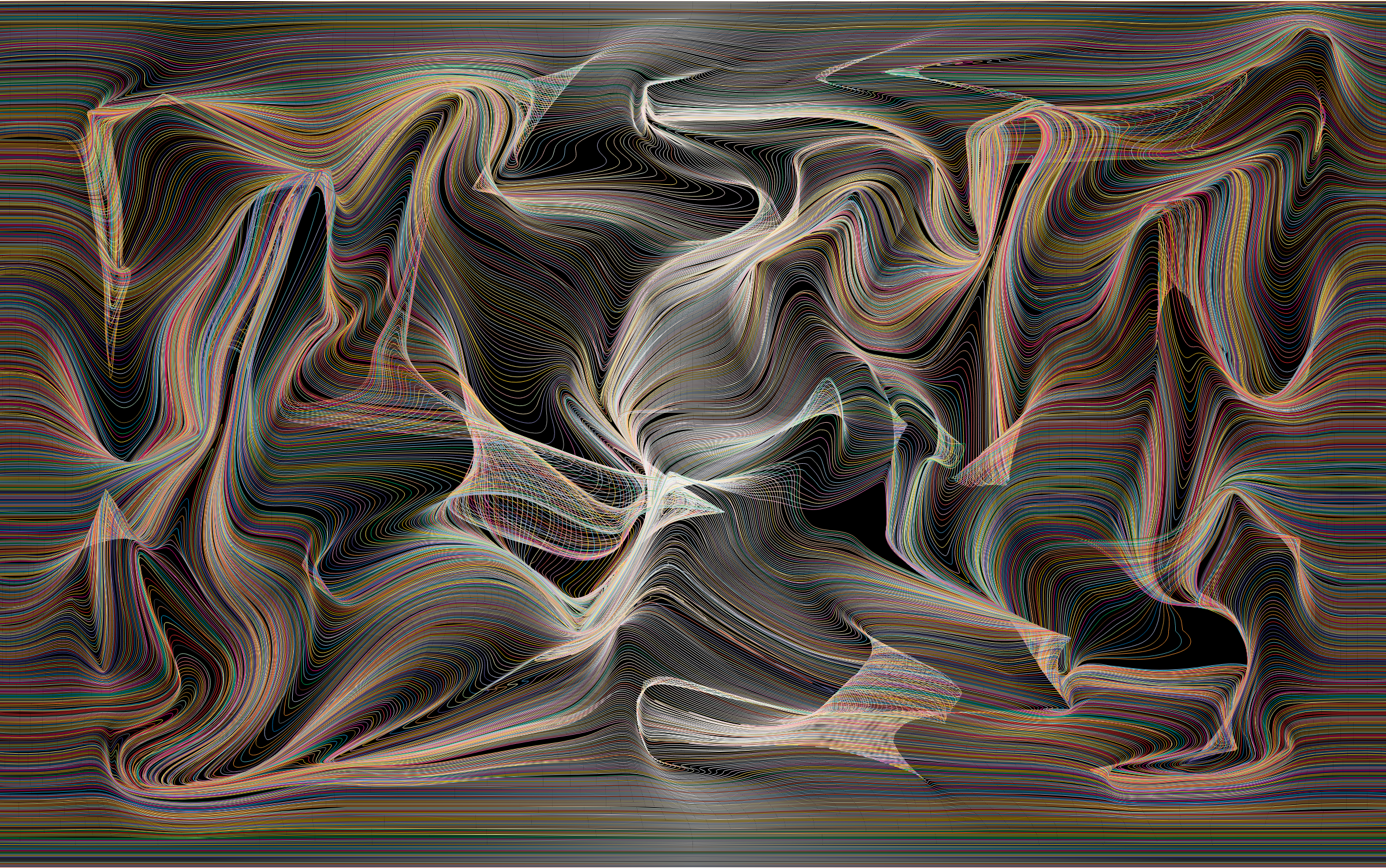 Prismatic Distorted Line Art Background 2 Variation 2 by GDJ