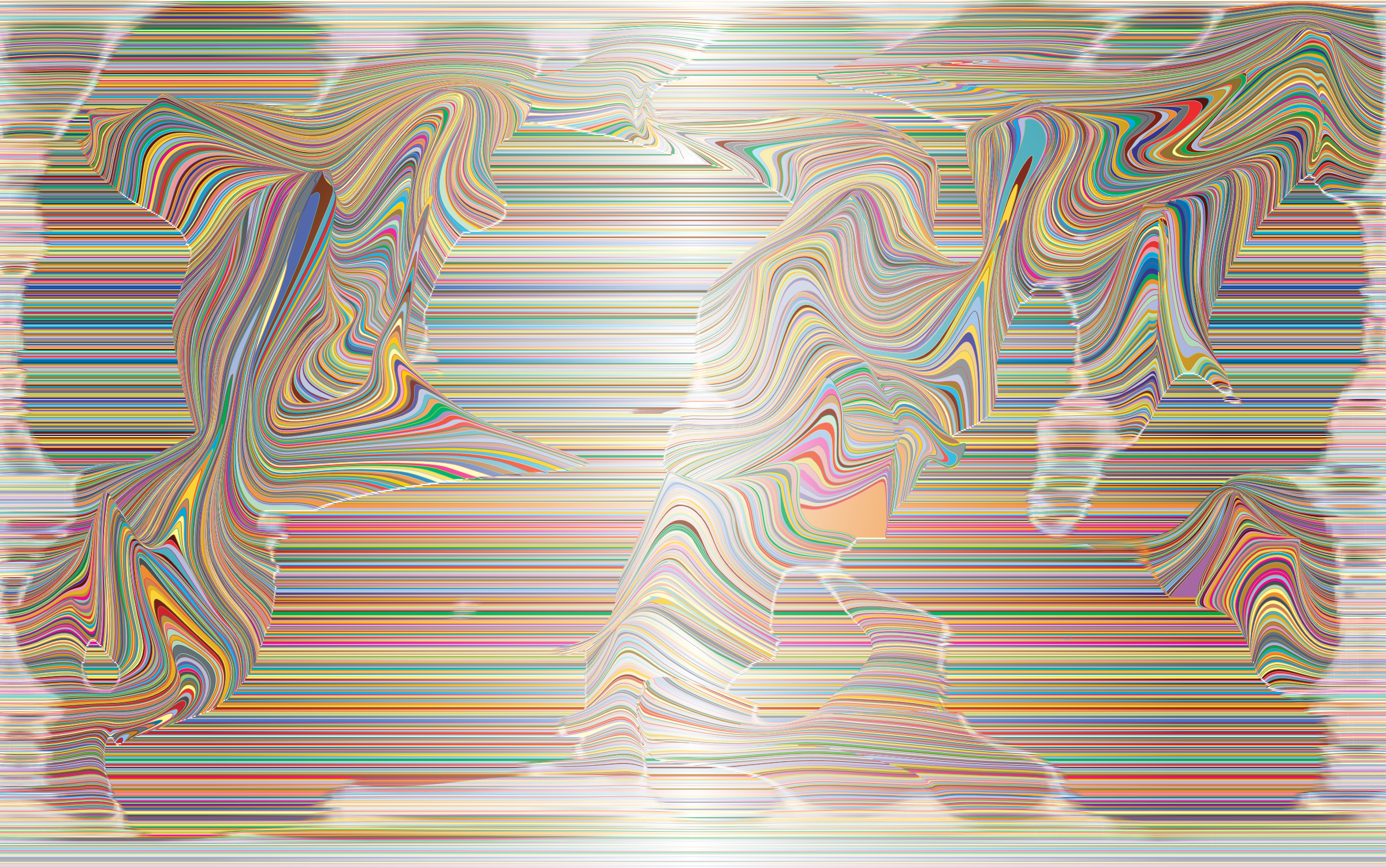 Prismatic Distorted Line Art Background 2 Variation 3 by GDJ