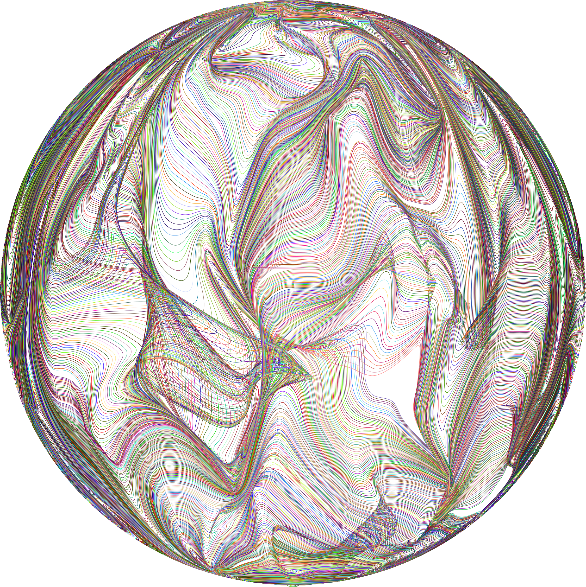 Prismatic Distorted Line Art Sphere by GDJ
