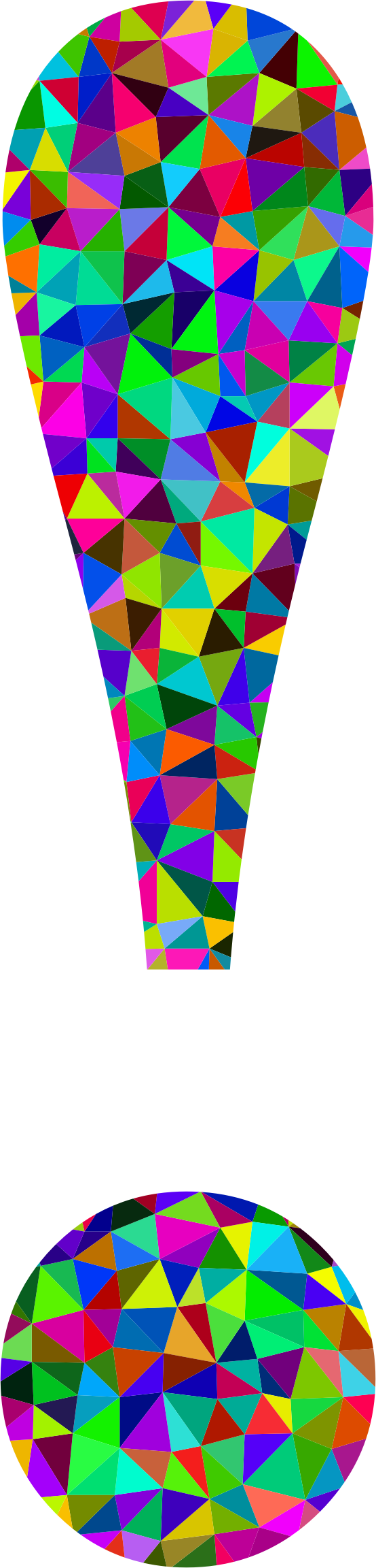 Low Poly Prismatic Exclamation Point by GDJ