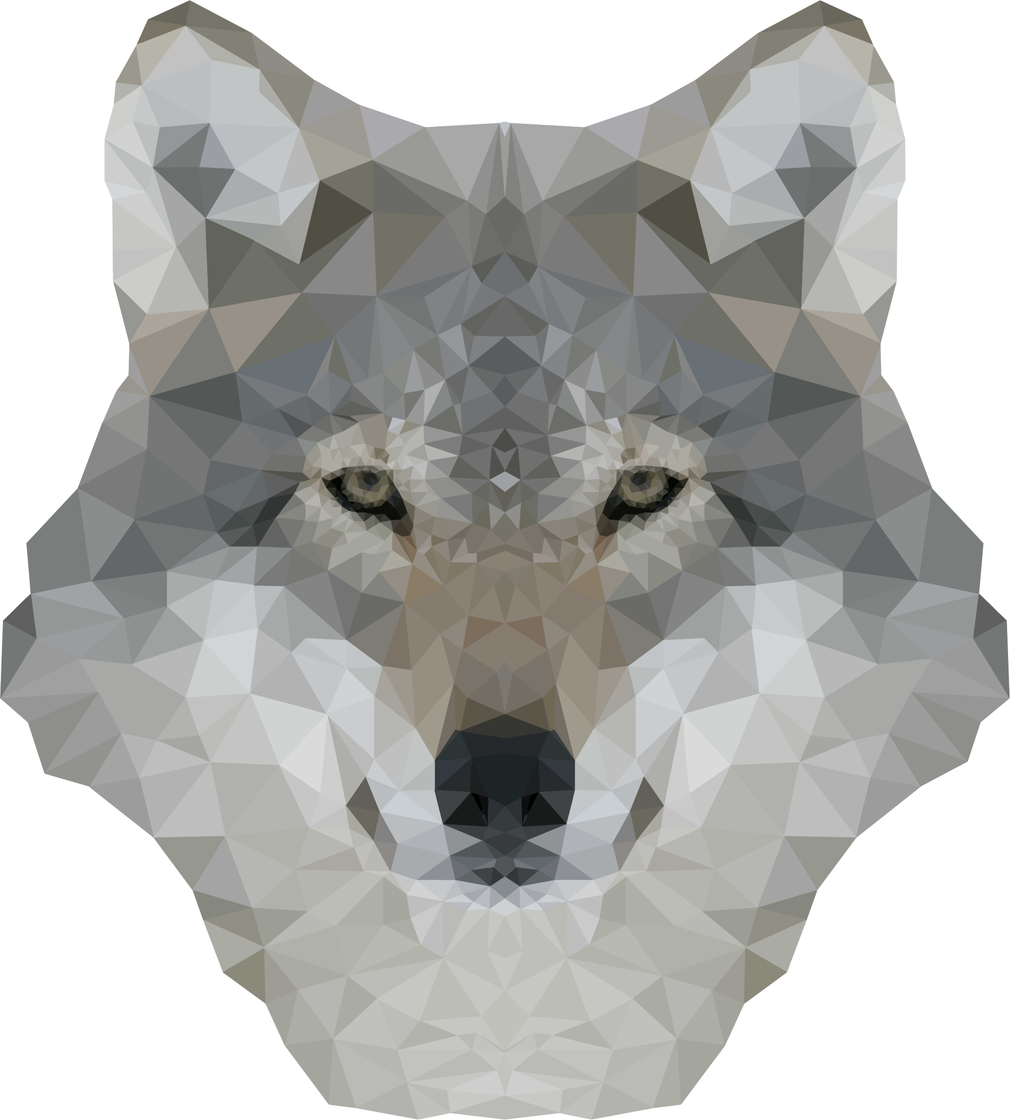 Low Poly Gray Wolf by GDJ