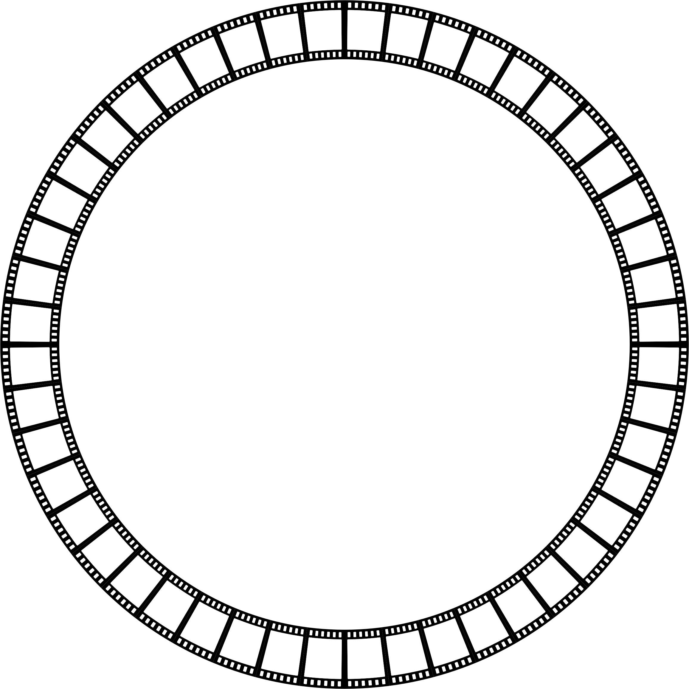 Clipart - Film Strip Circle Frame