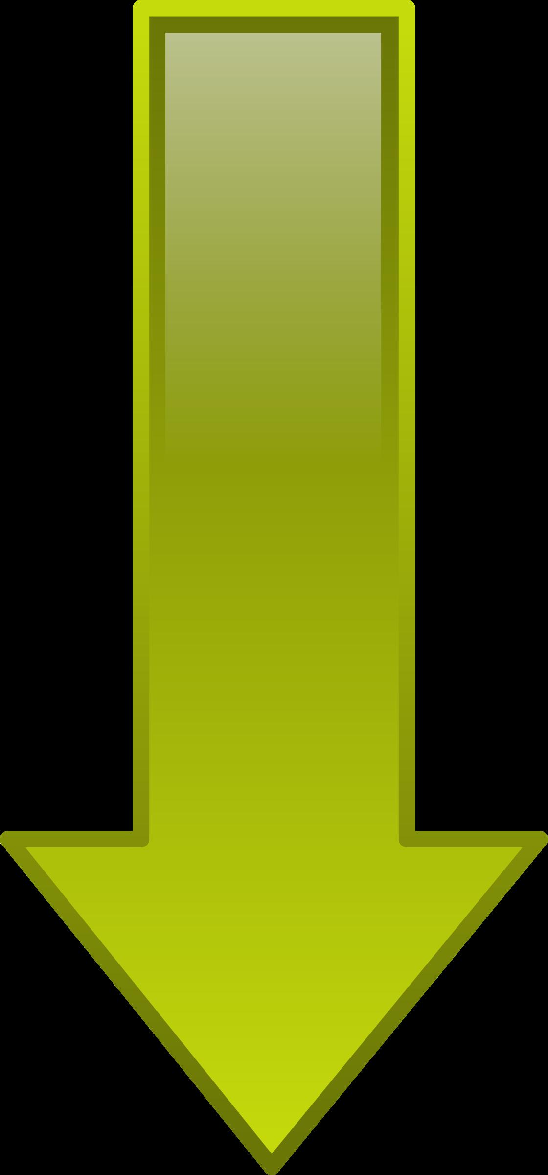 Clipart - Arrow Down Yellow