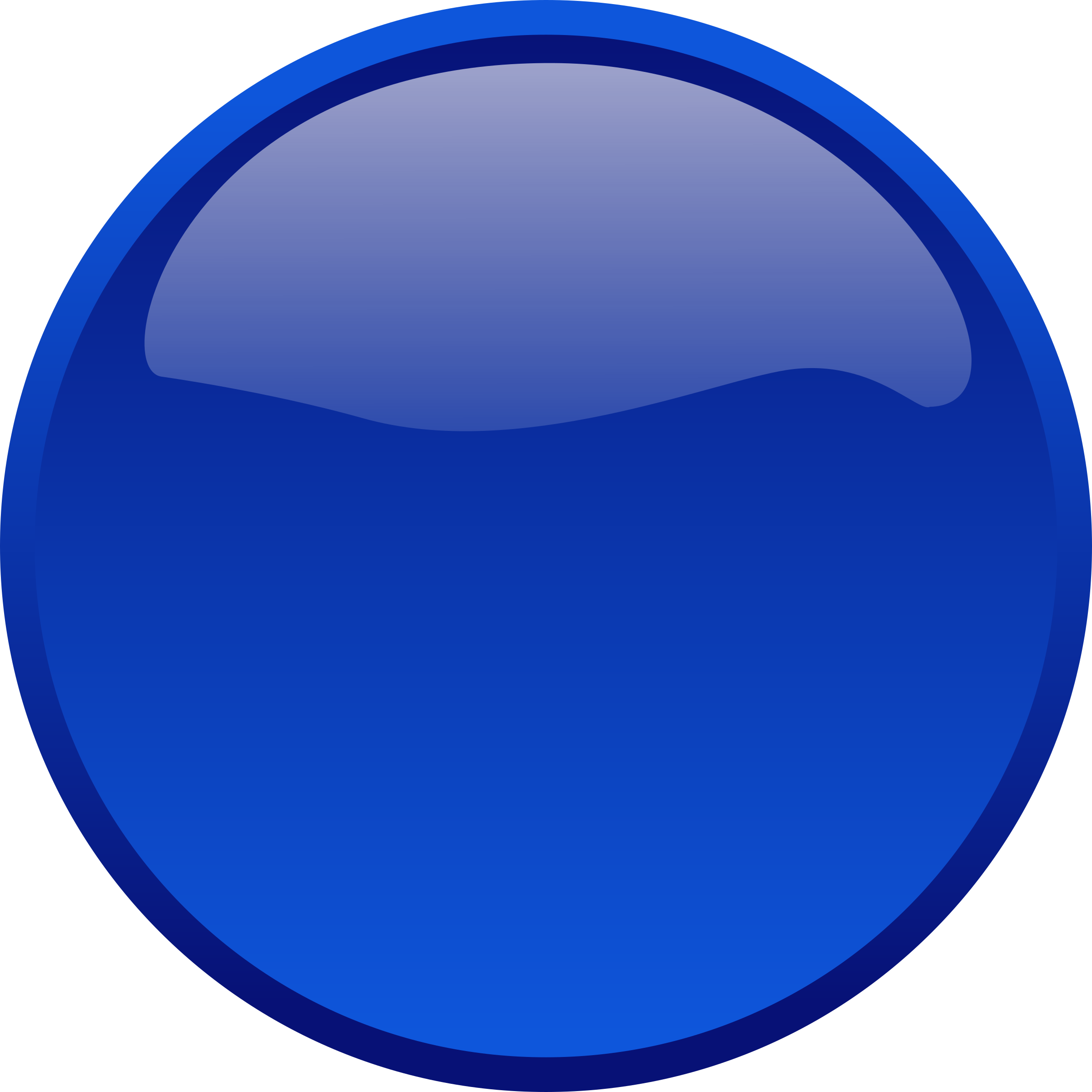 Button Blue by bpcomp