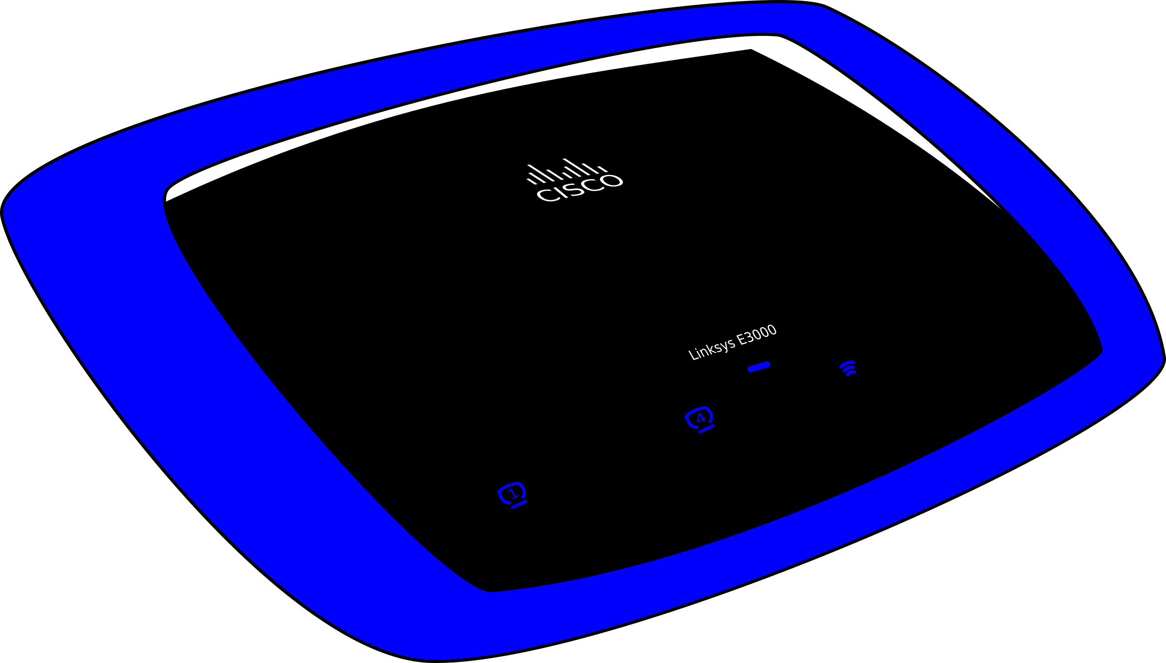 Cisco Linksys E3000 wireless router by jjl