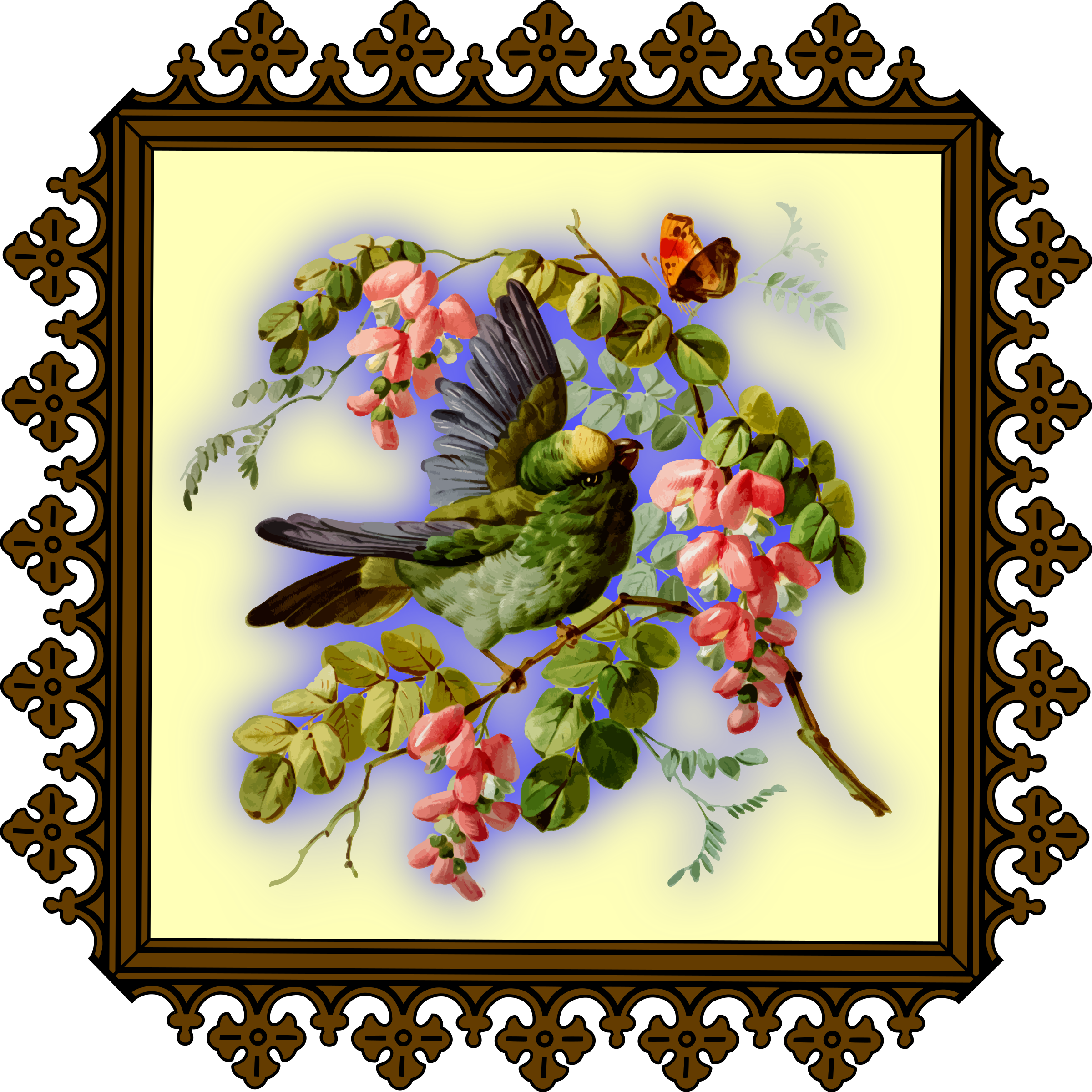 Bird and flowers by Firkin