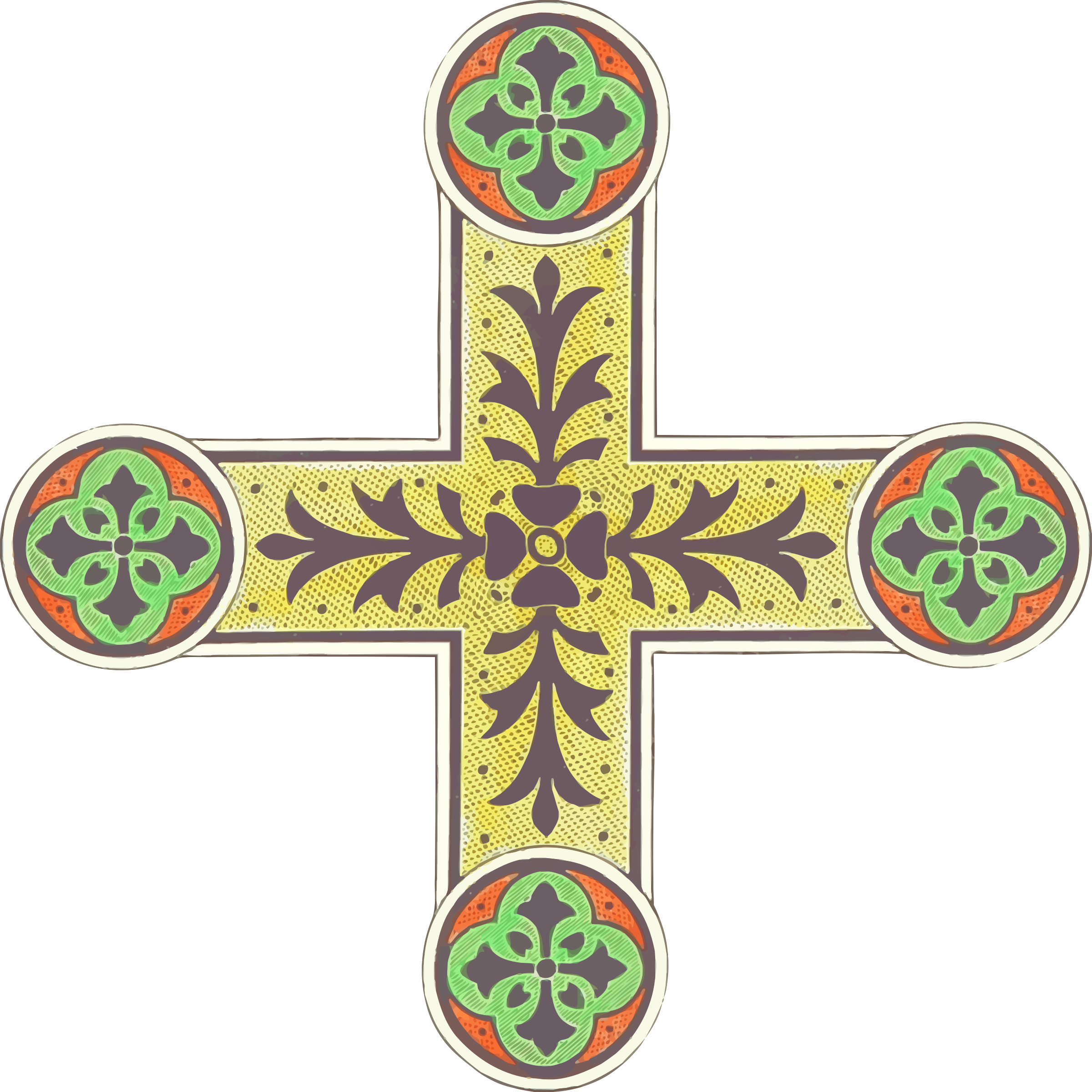 Ornamental cross 4 by Firkin