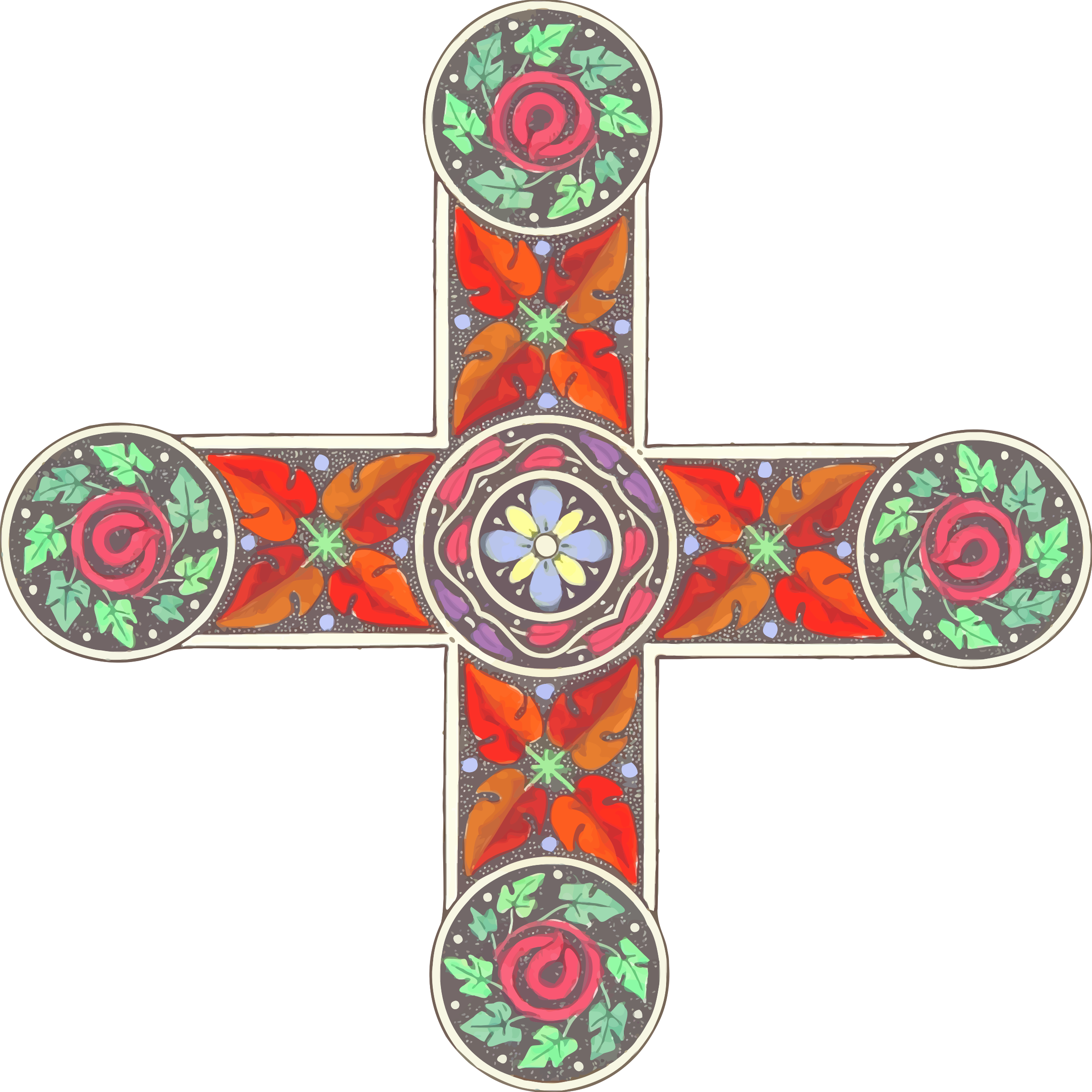 Ornamental cross 5 by Firkin