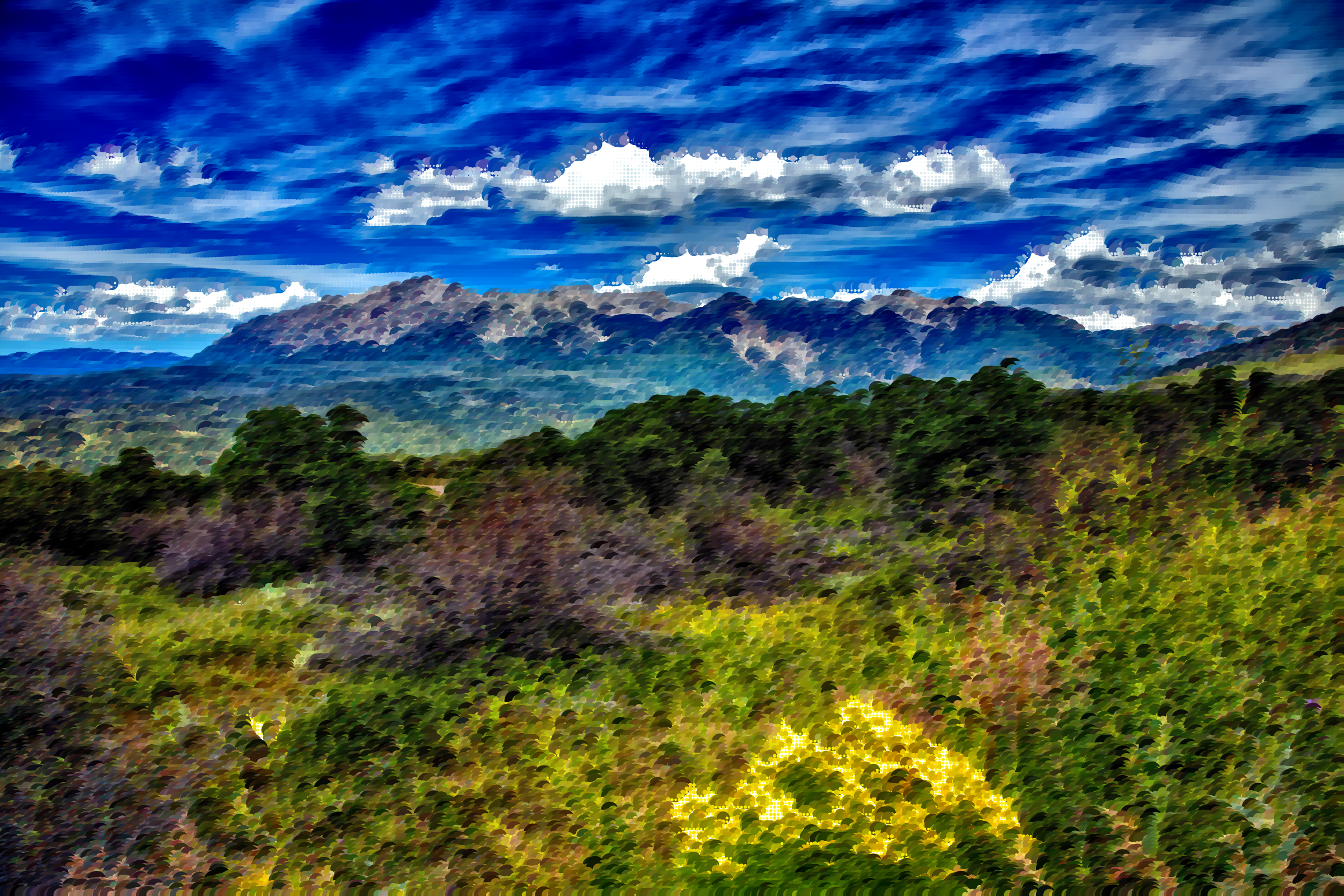 Clipart - Surreal Colorado Landscape