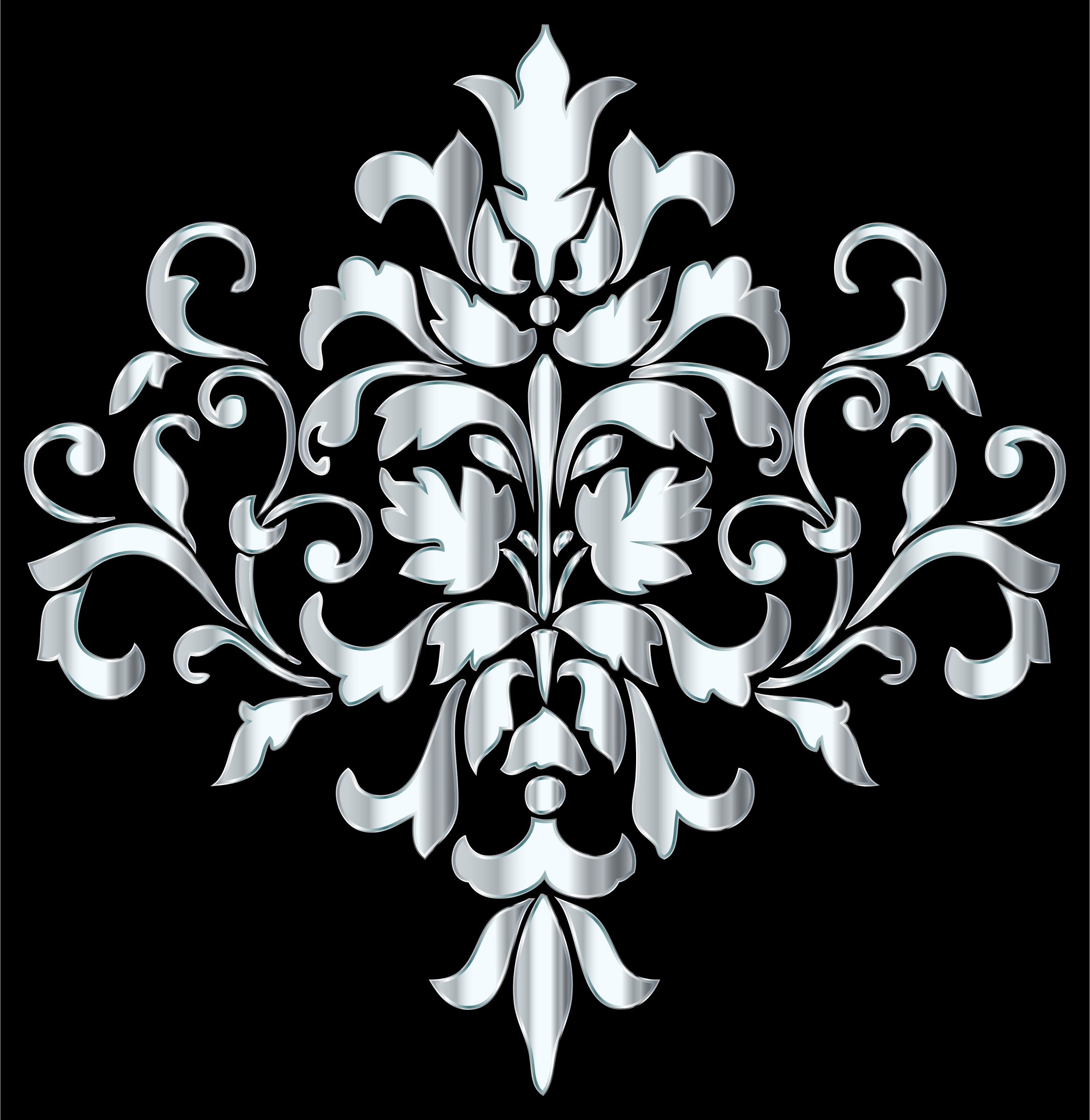 Silver Damask Design by GDJ