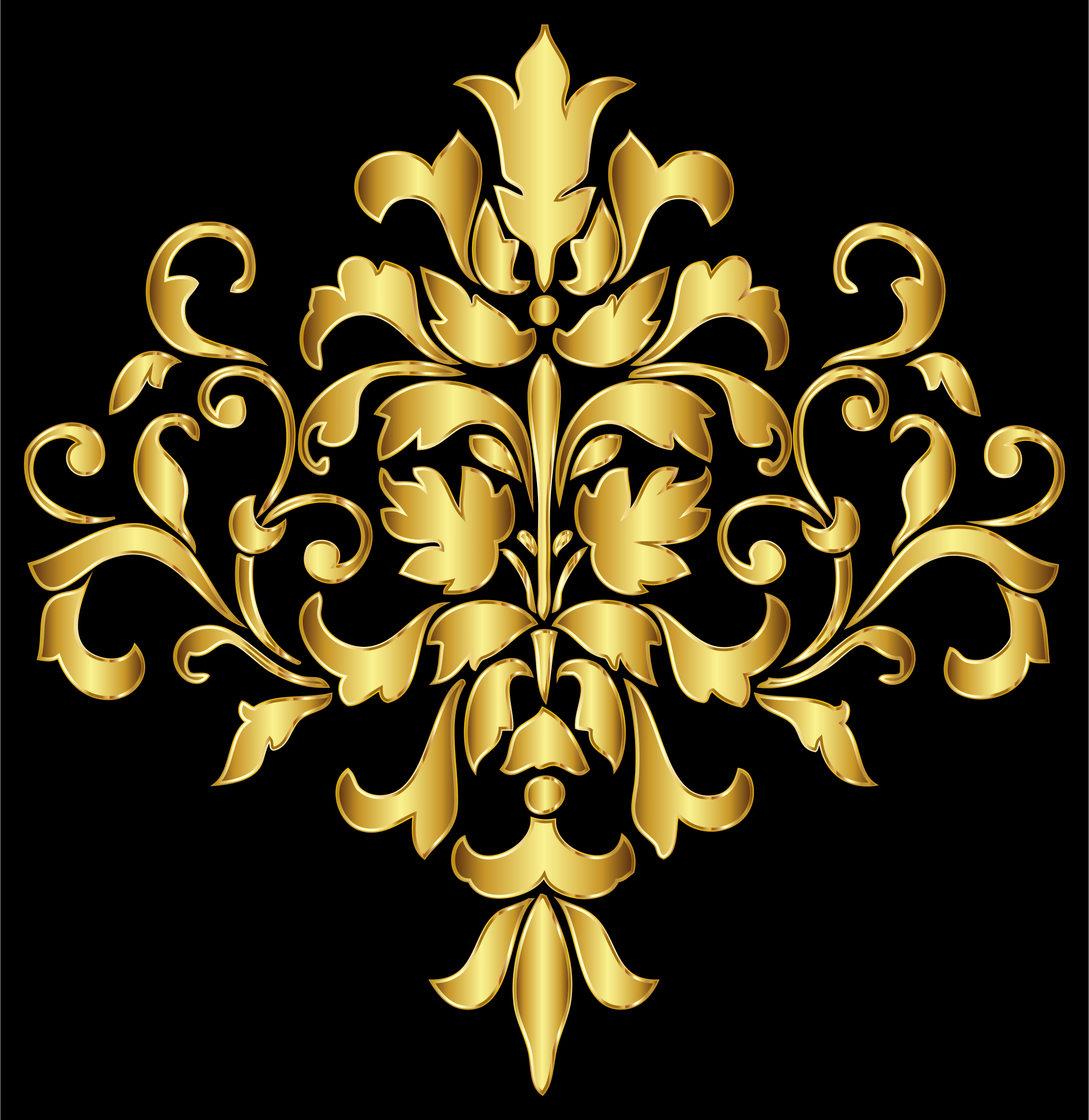 Gold Damask Design by GDJ