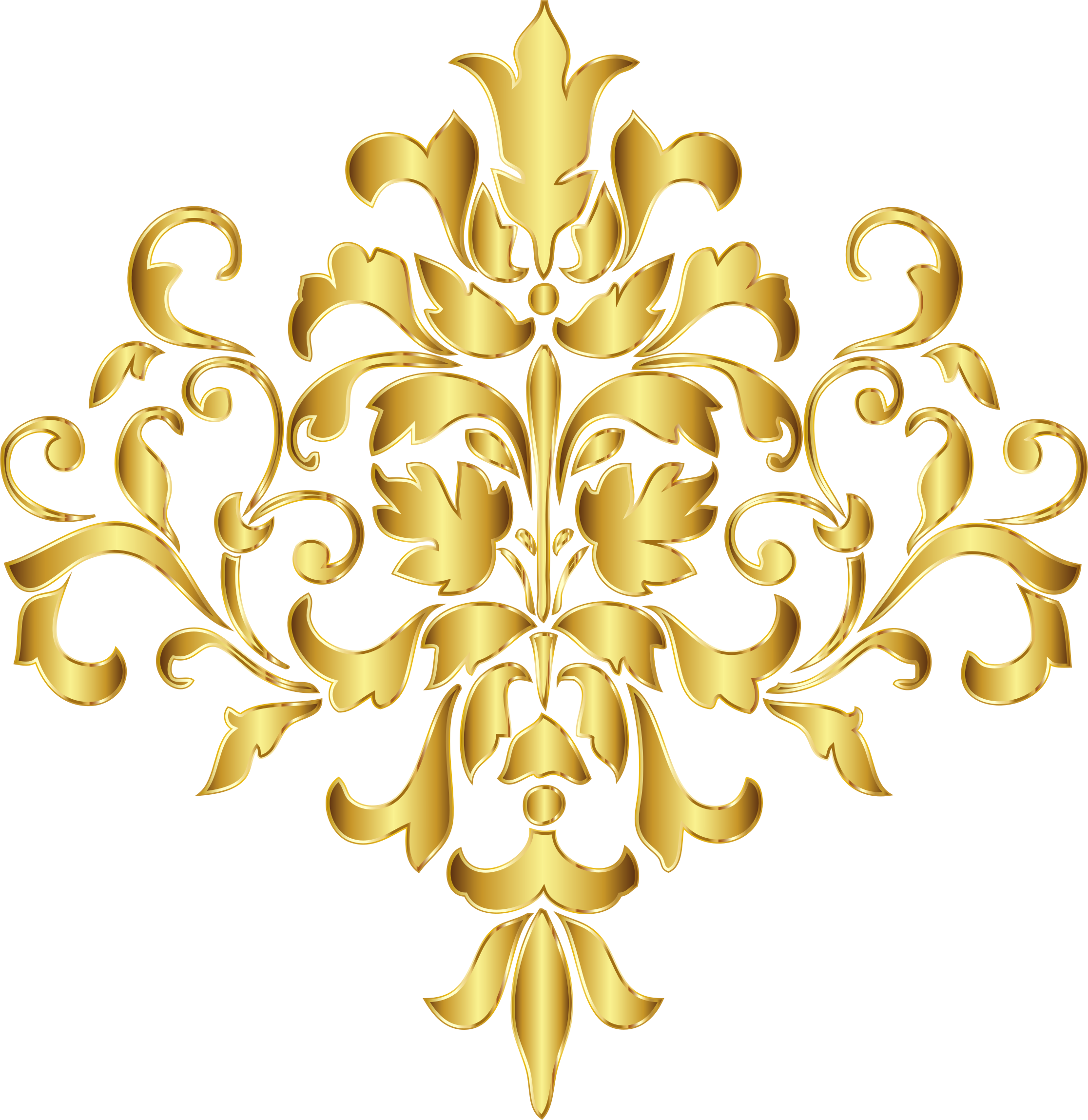 Gold Damask Design No Background by GDJ