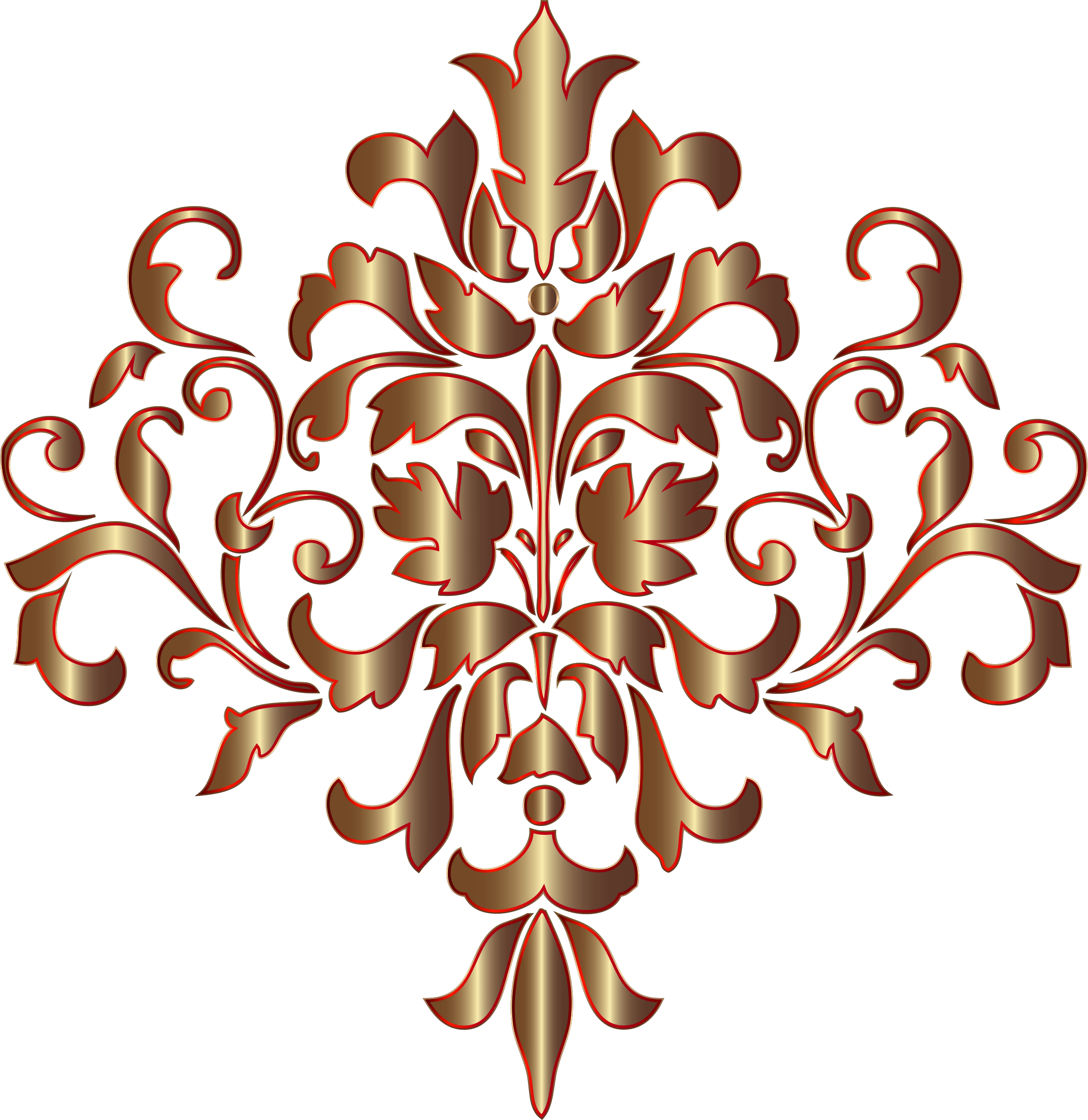 Festive Damask Design No Background by GDJ