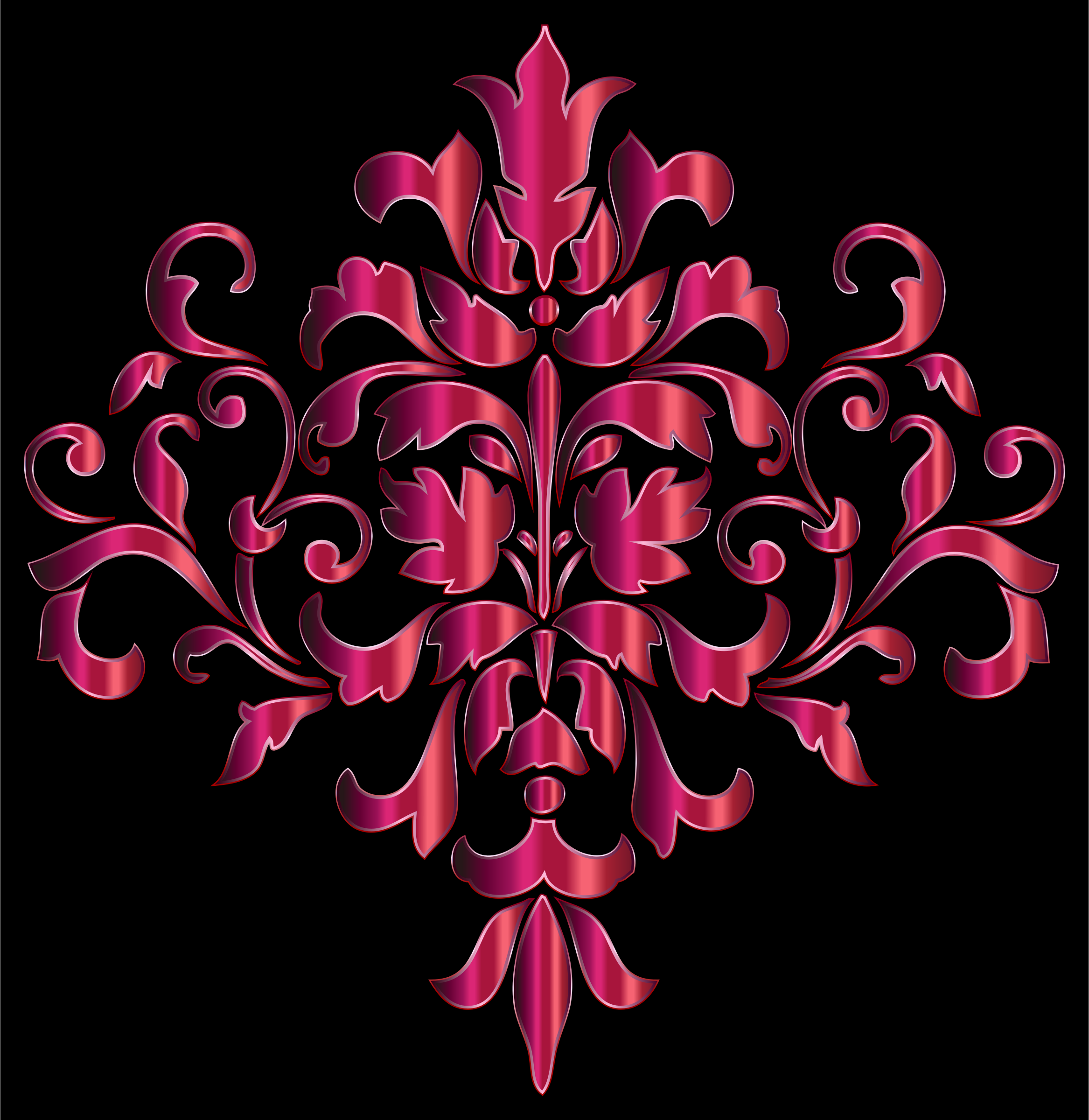 Festive Damask Design 2 by GDJ