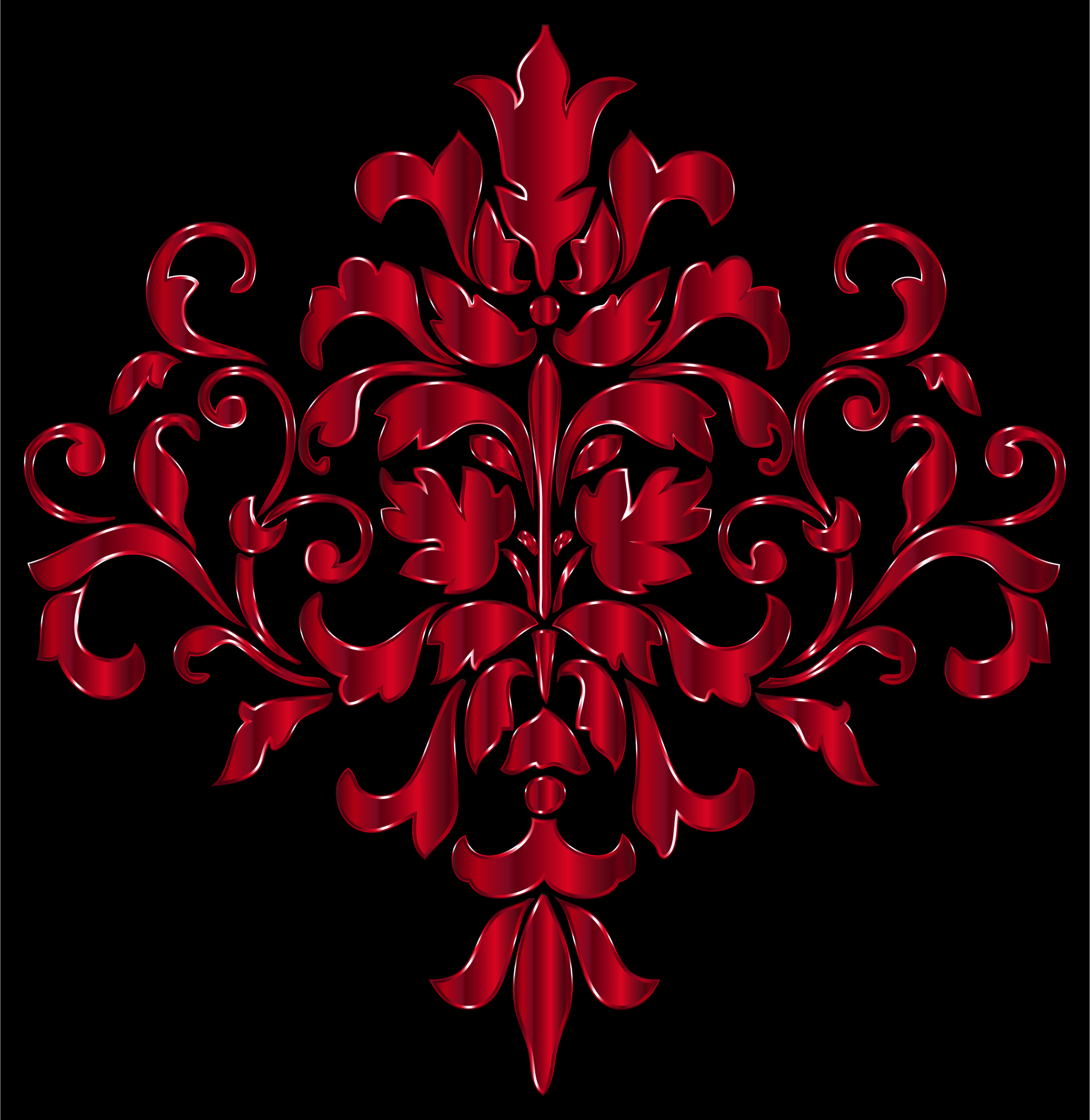 Crimson Damask Design by GDJ