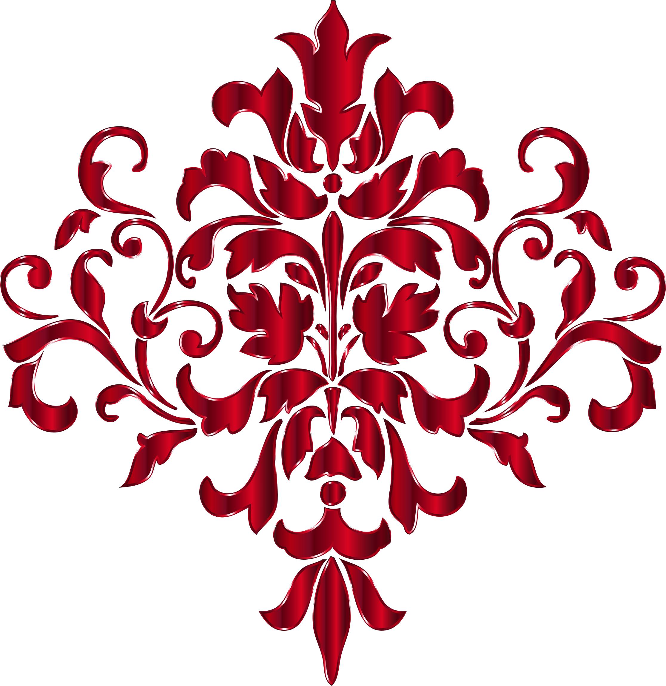 Crimson Damask Design No Background by GDJ