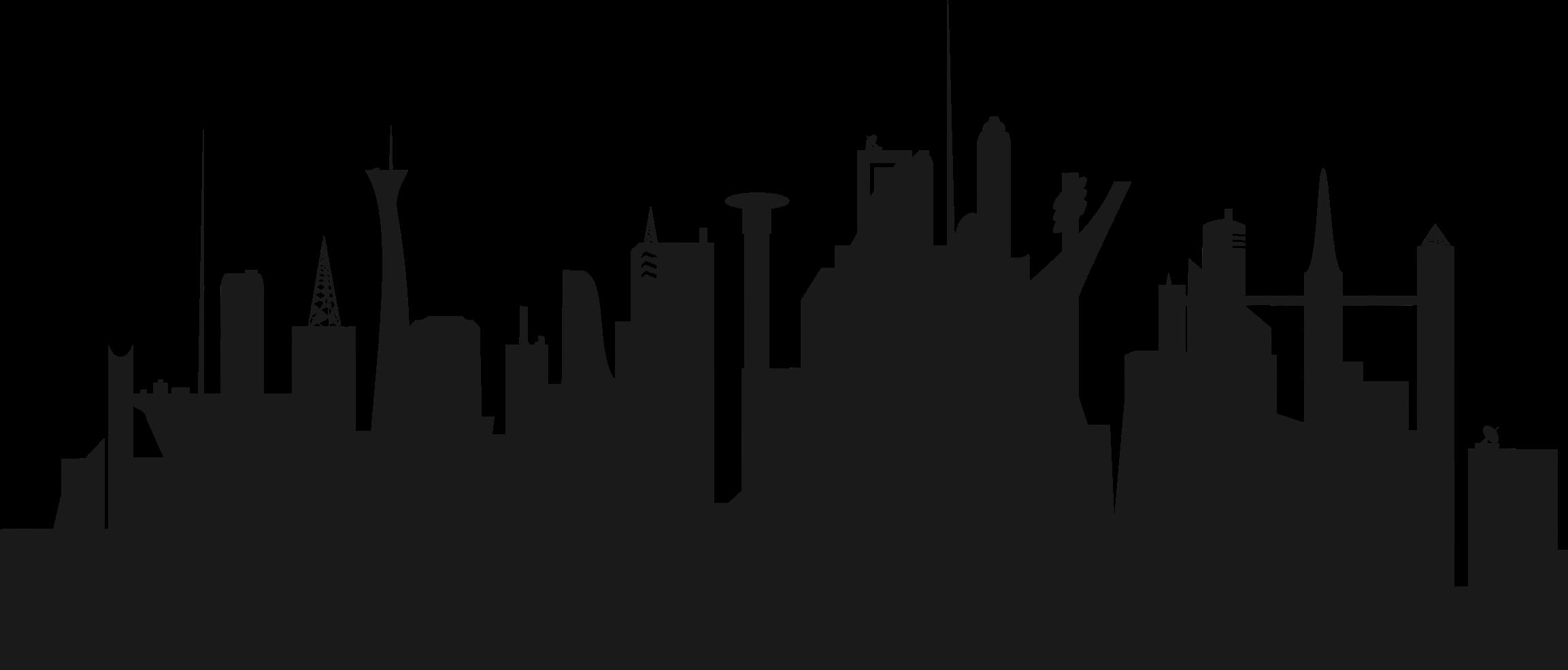 Clipart - Futuristic City Skyline