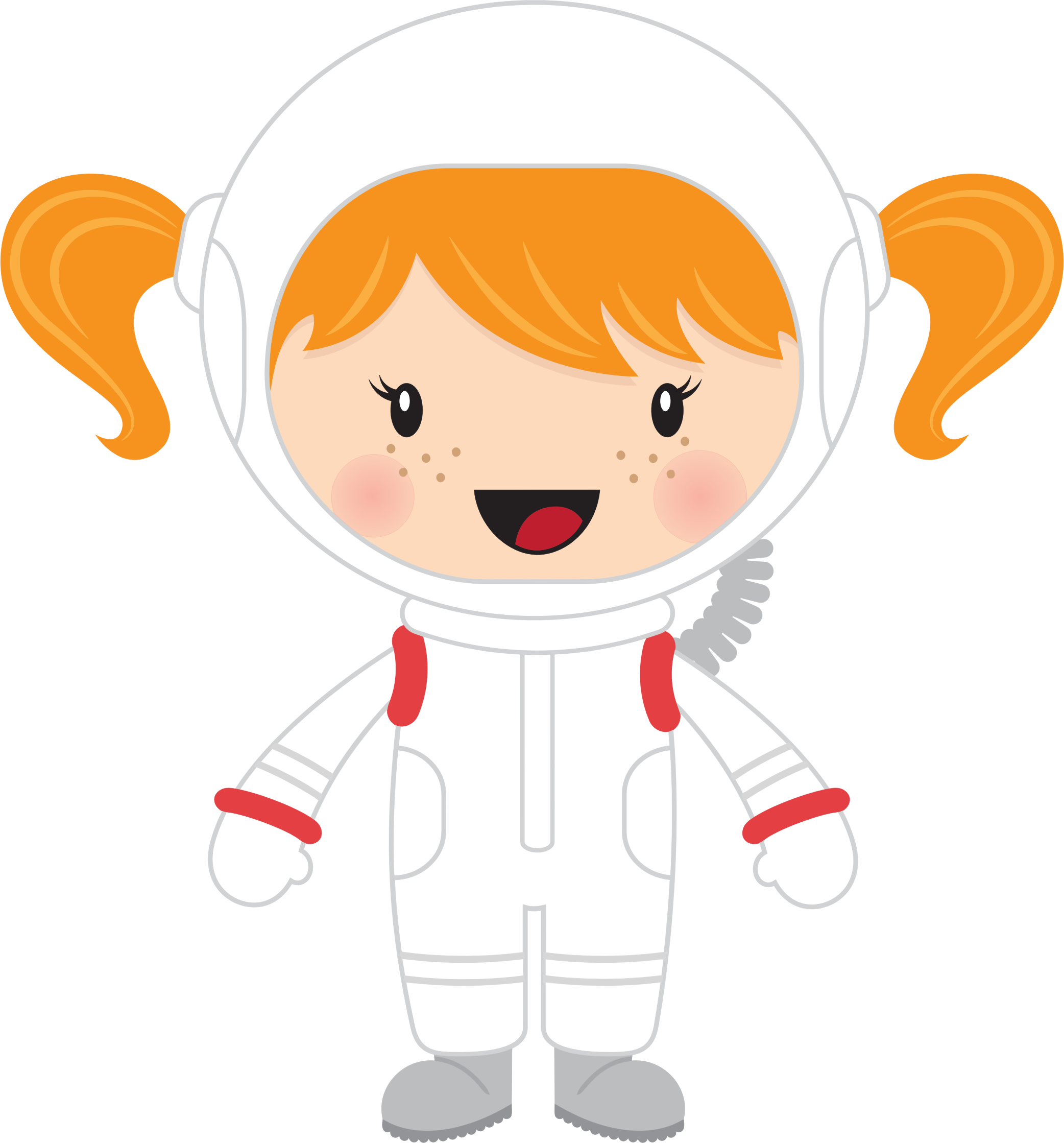 Clipart - Little Girl Astronaut