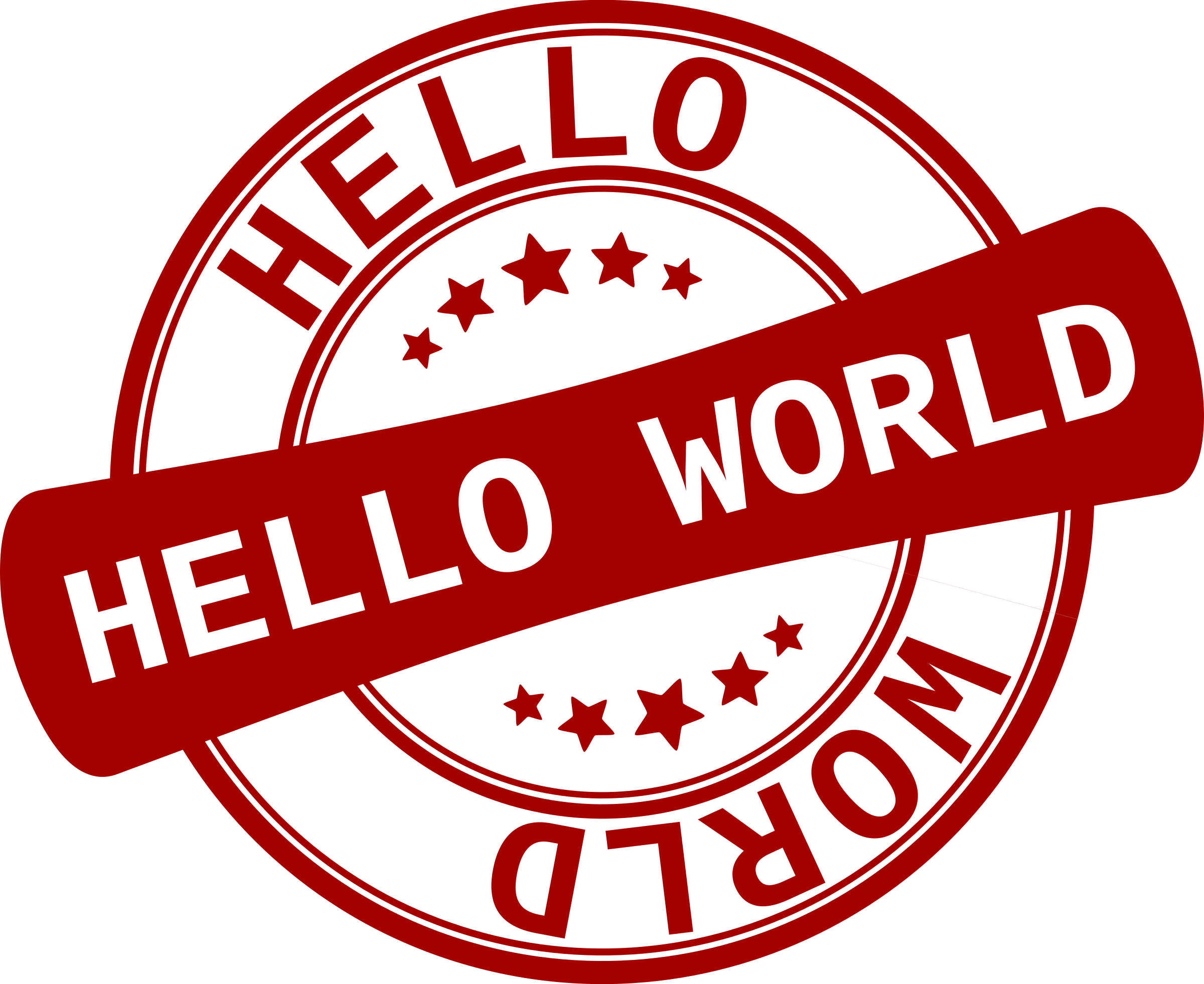 Label Hello World by jean_victor_balin
