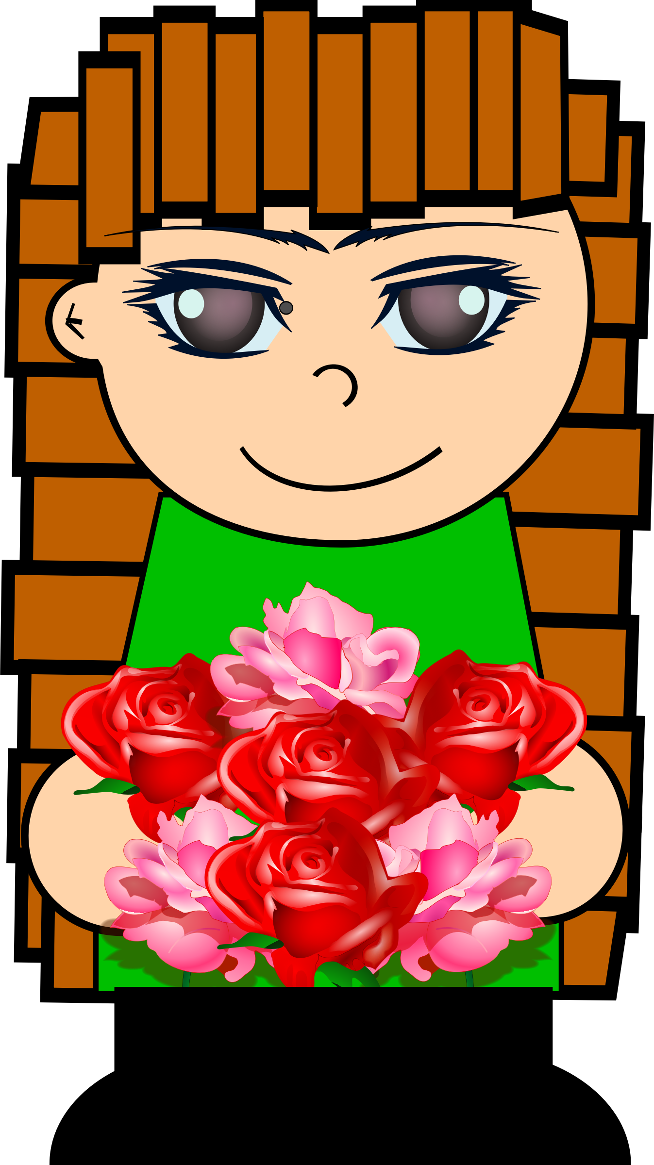 Clipart Cartoon Flower Girl