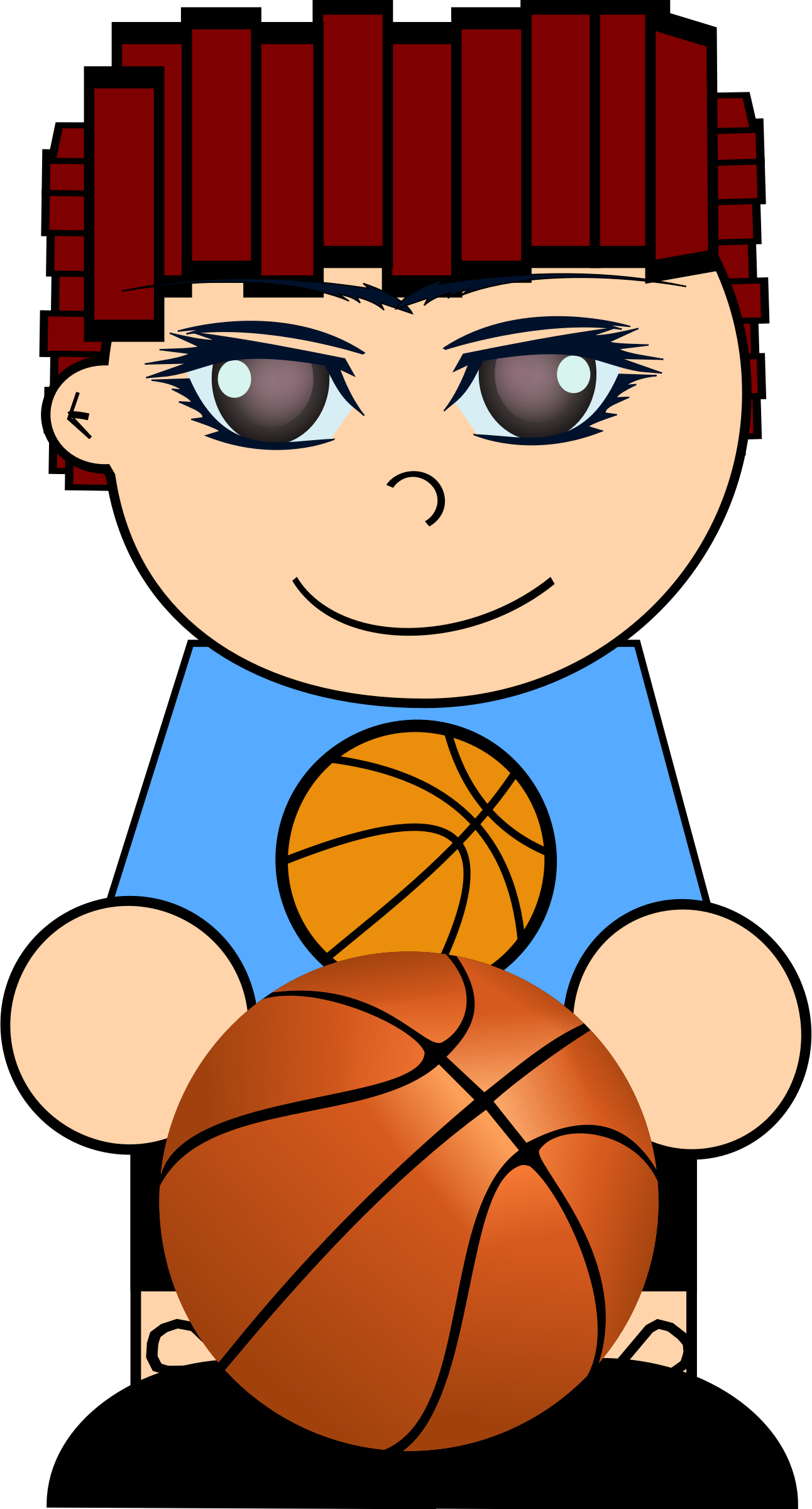 Boy with basketball by cirenovy