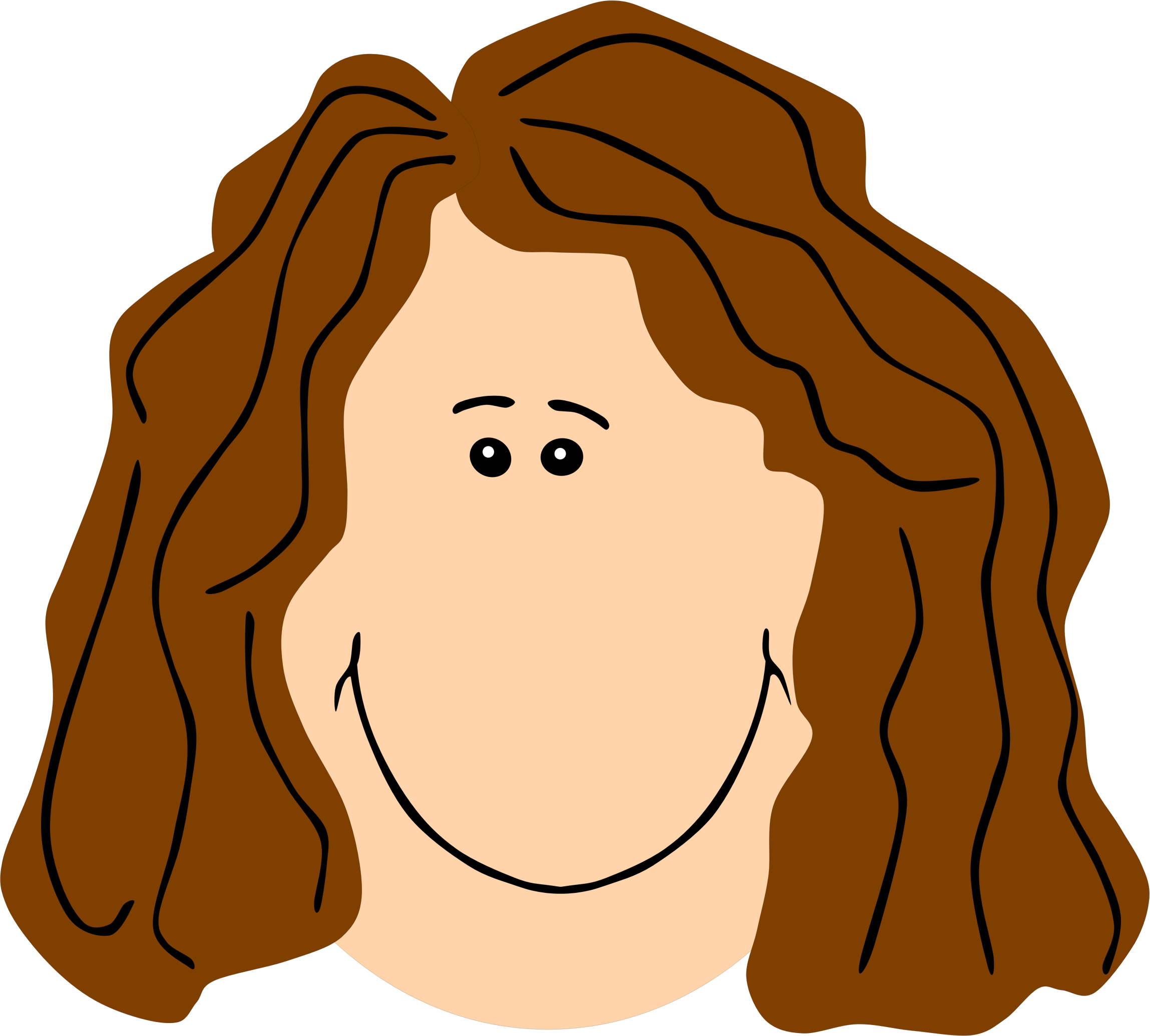 Clipart - Mom Face Brown