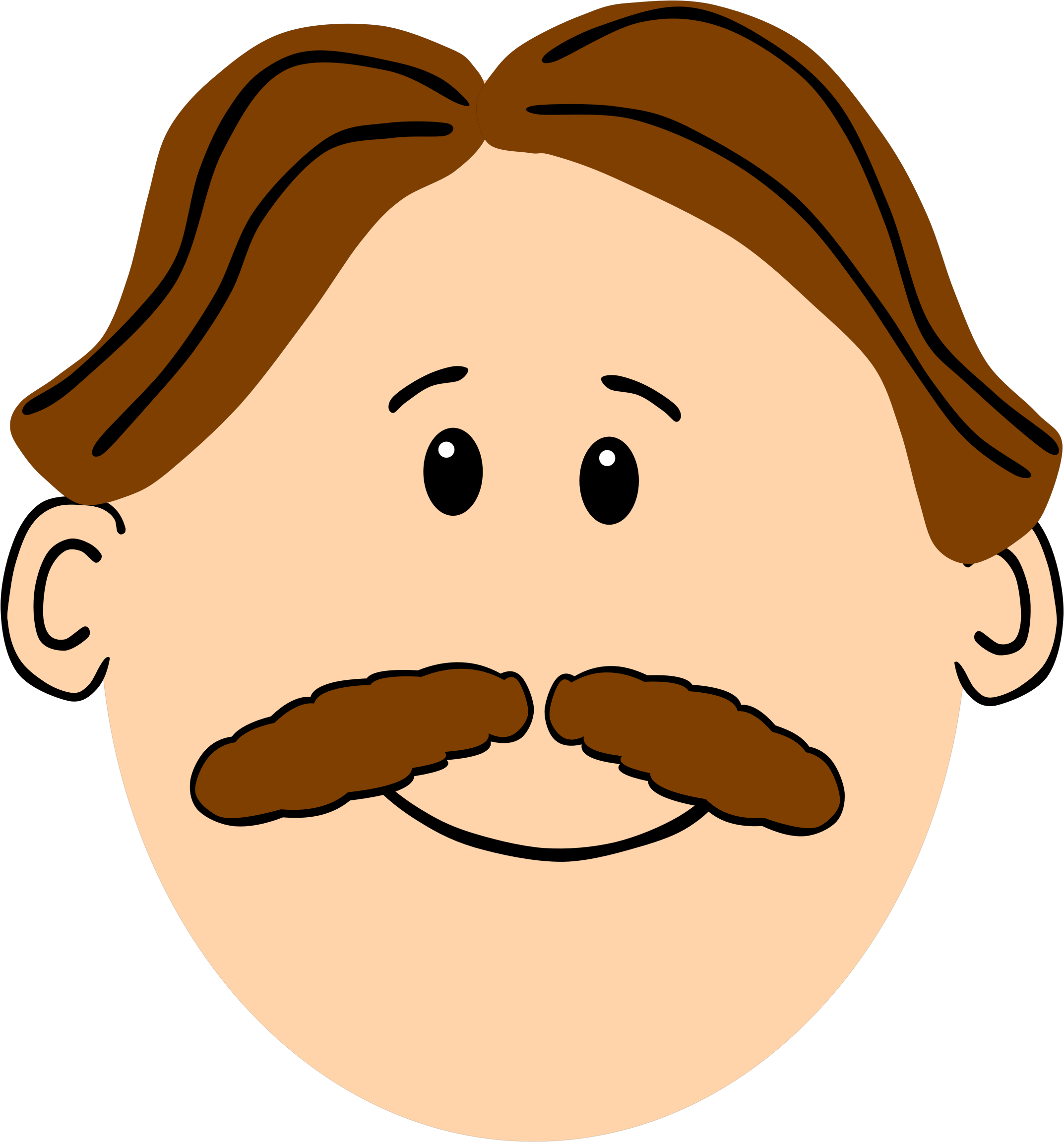 man with brown hair and mustache by cirenovy