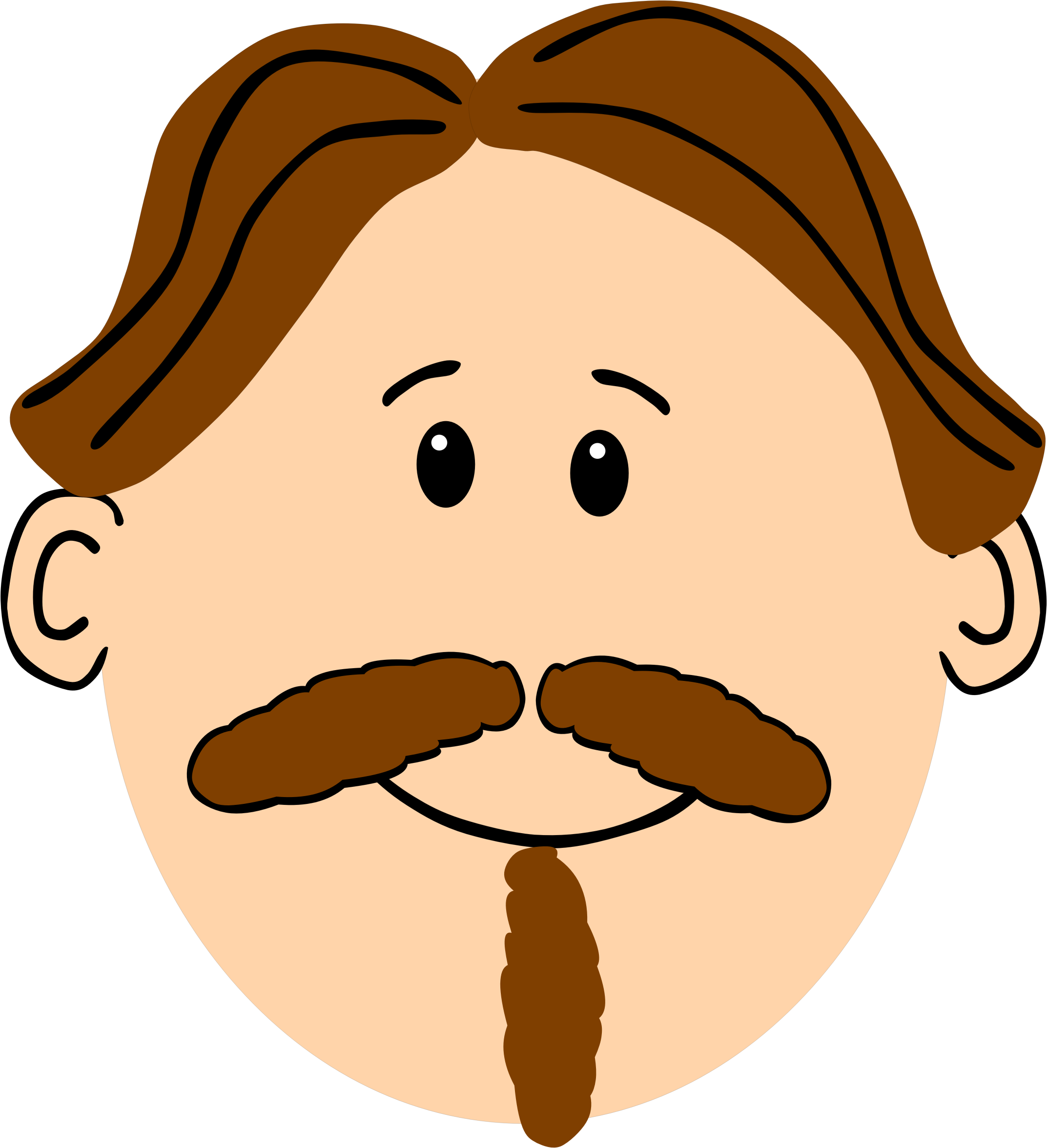 Man with brown hair mustache and goatee by cirenovy