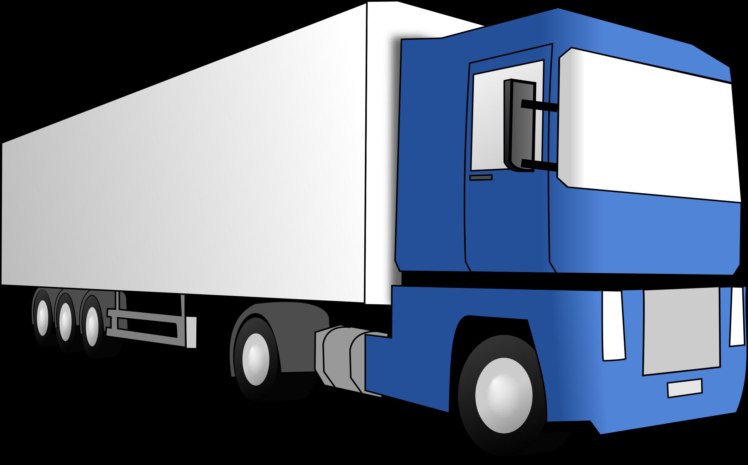 clipart blue truck Semi Truck Line Art Semi Truck Logos