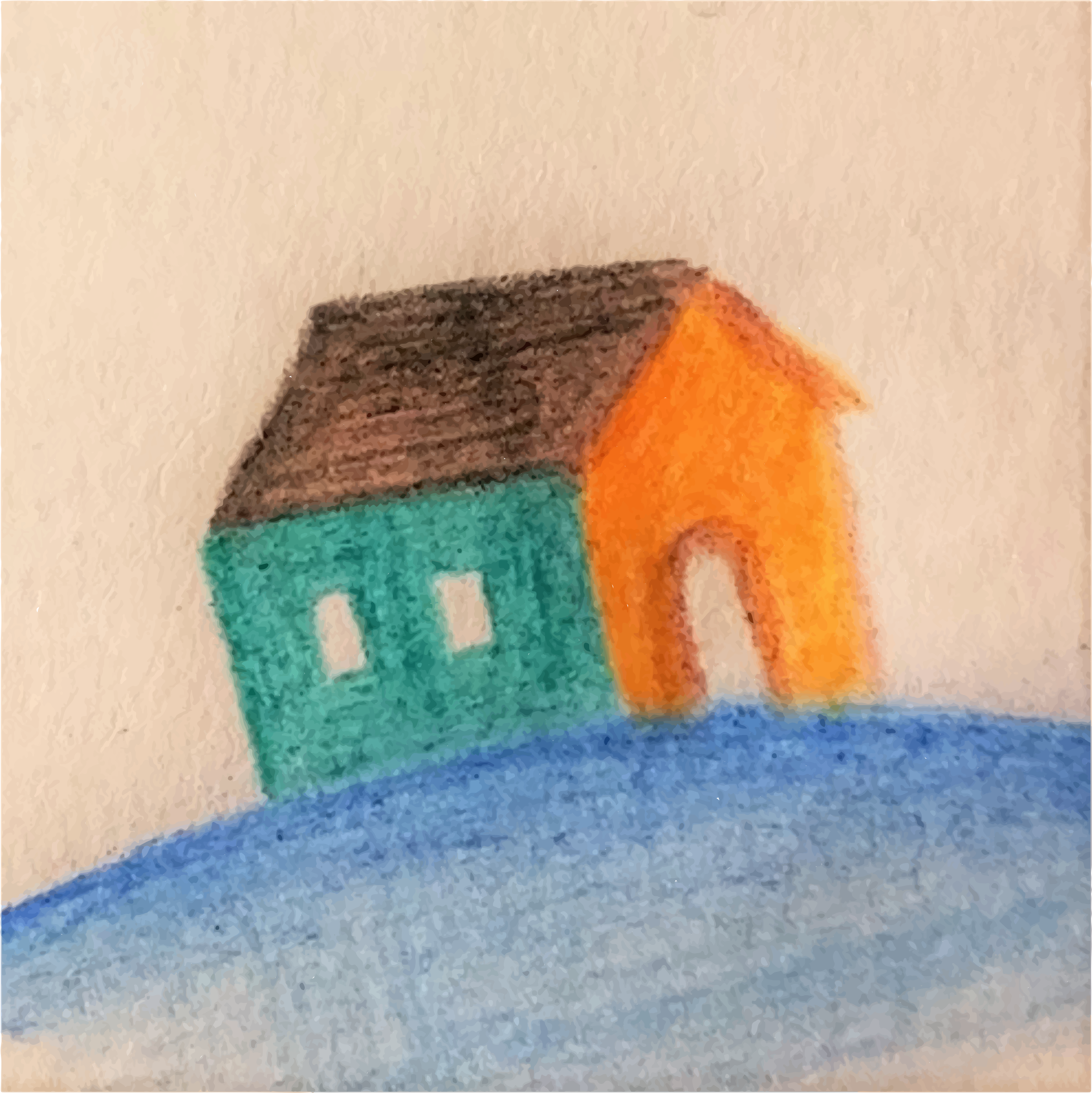 Painted Home (Vectorized) by GDJ
