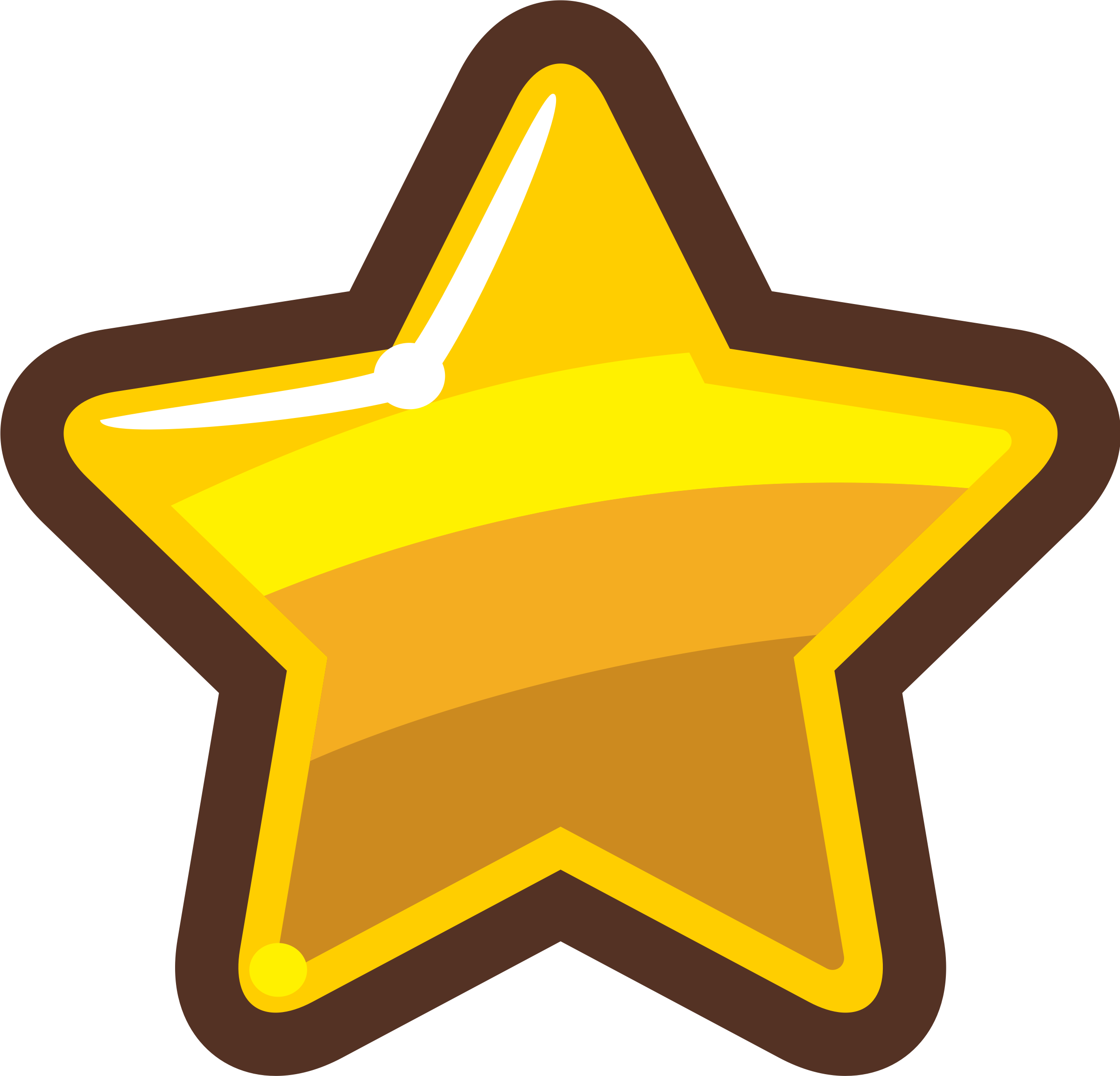 Cartoon Gold Star by Exocet