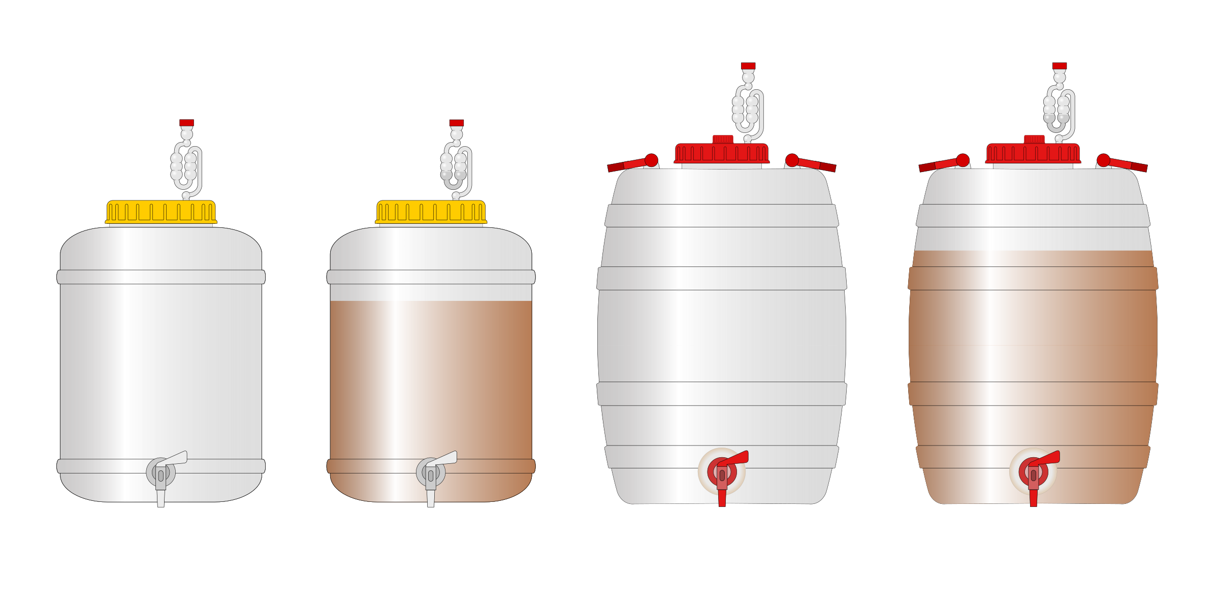Homebrewing Fermenters by stefanolmo