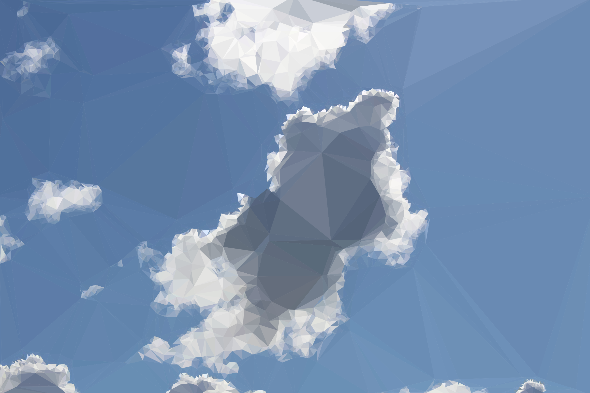 Low Poly Blue Sky 11 by GDJ