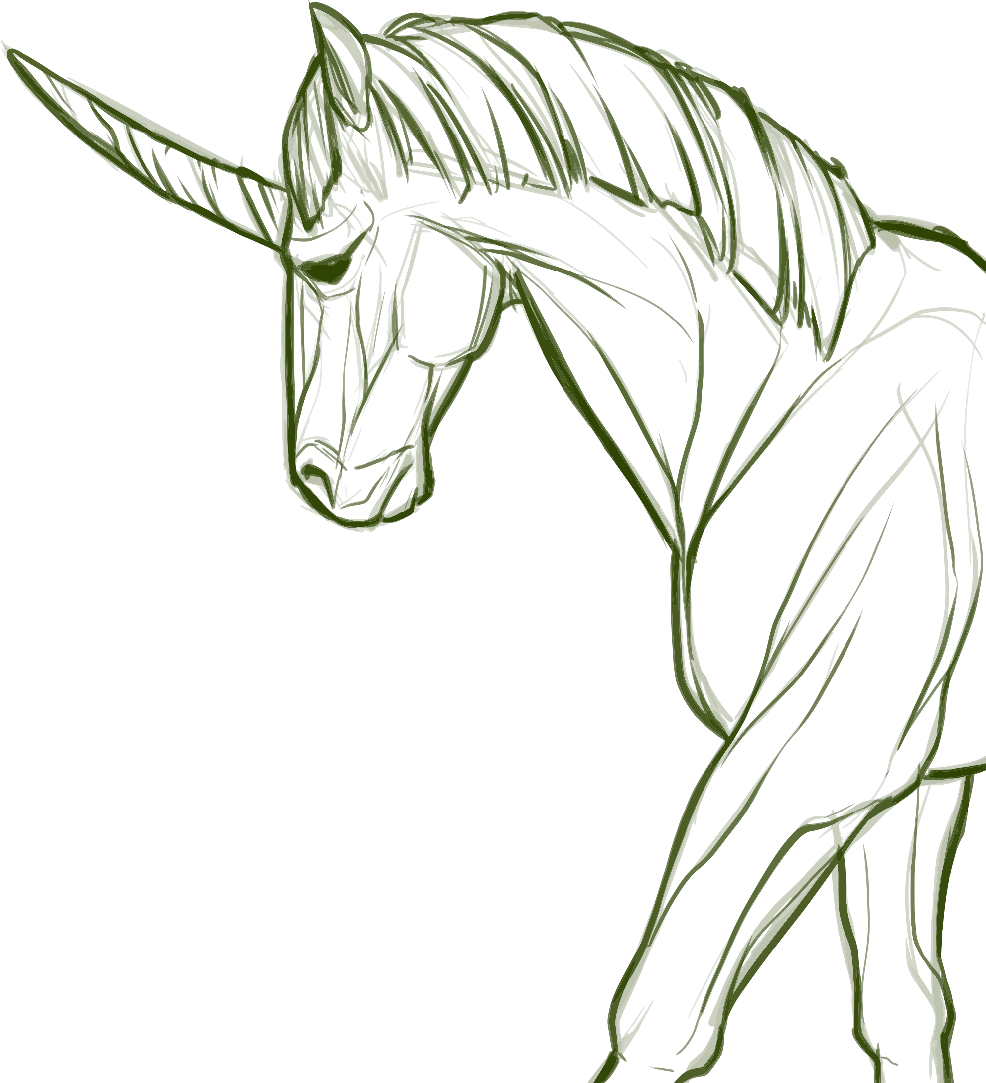 Unicorn Line Art by GDJ