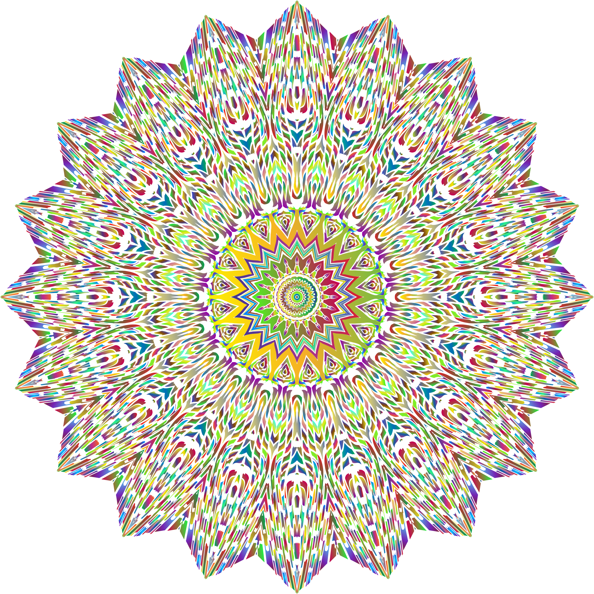 Psychedelic Mandala No Background by GDJ