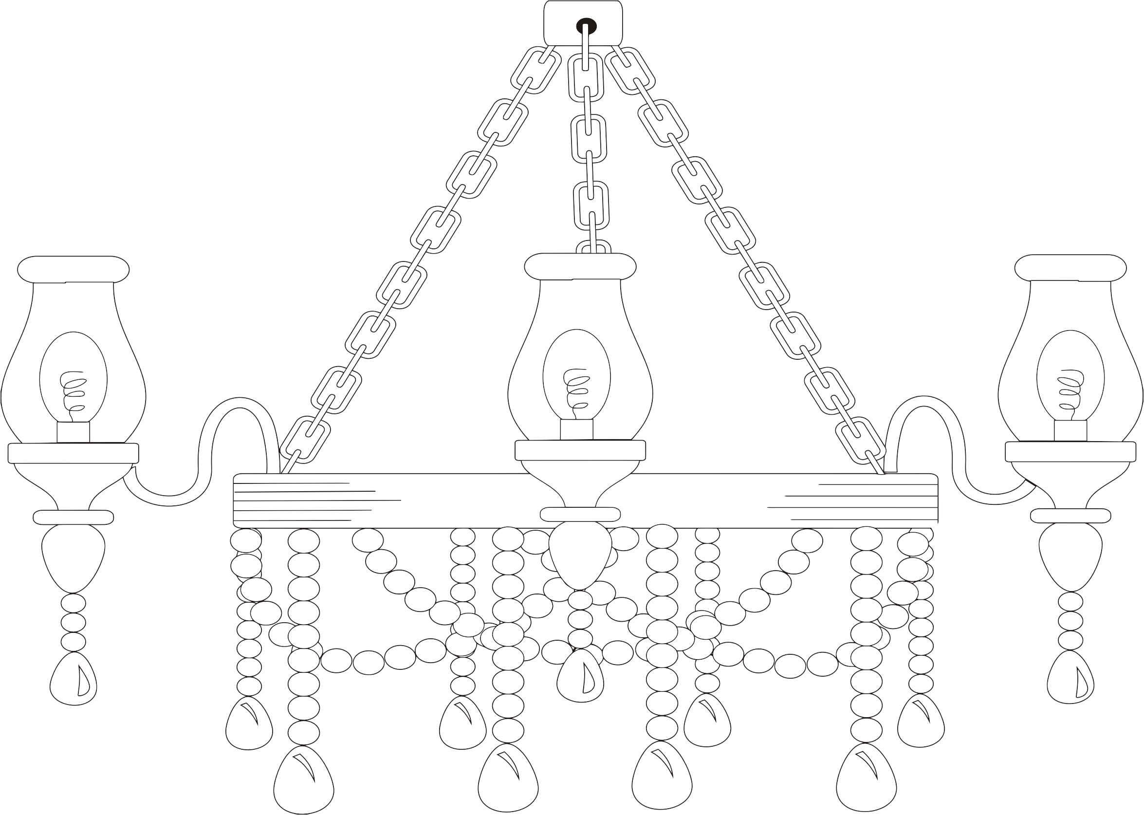 Chandelier Line Art by GDJ