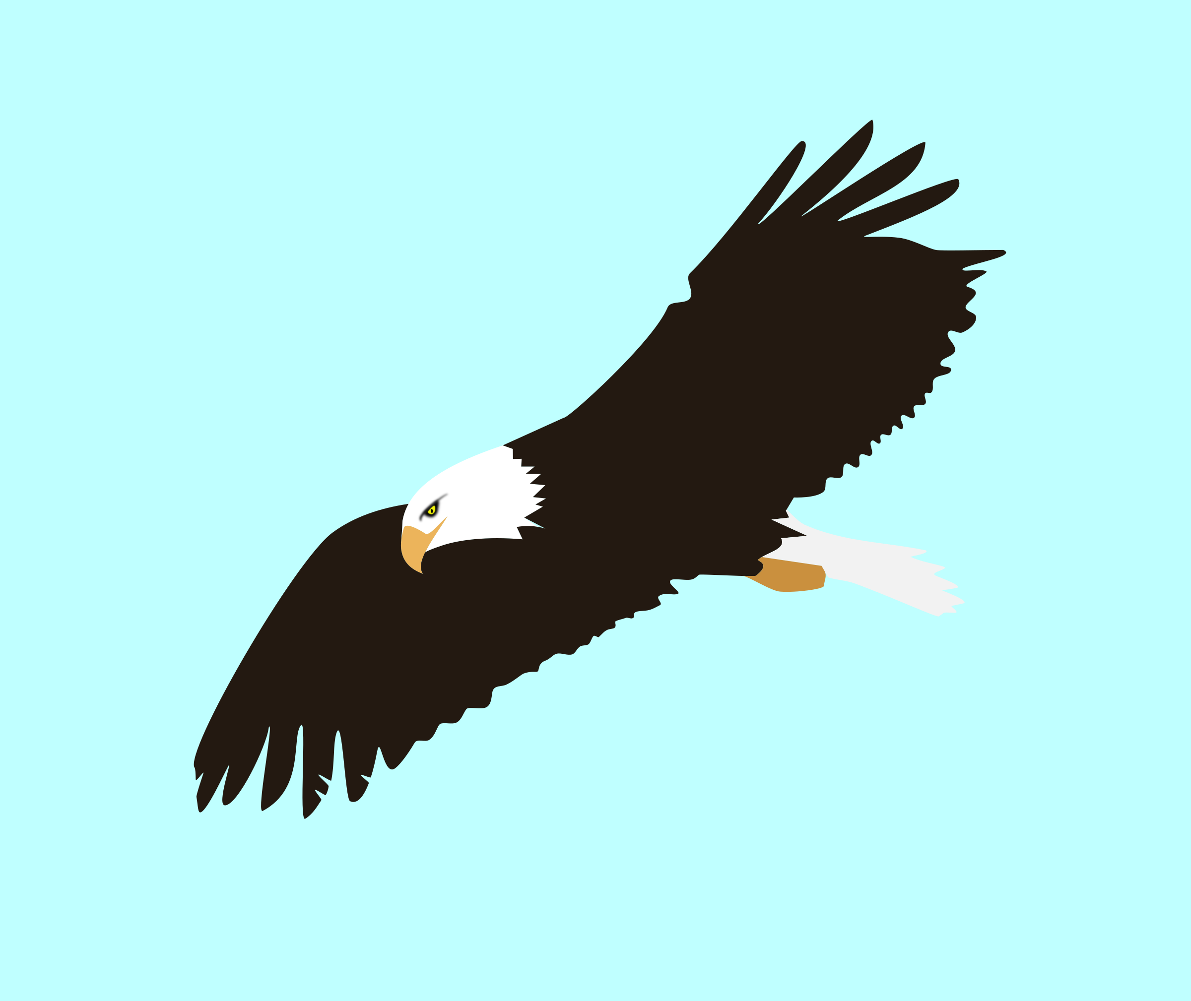 clipart soaring eagle rh openclipart org flying eagle clipart png flying eagle wings clipart