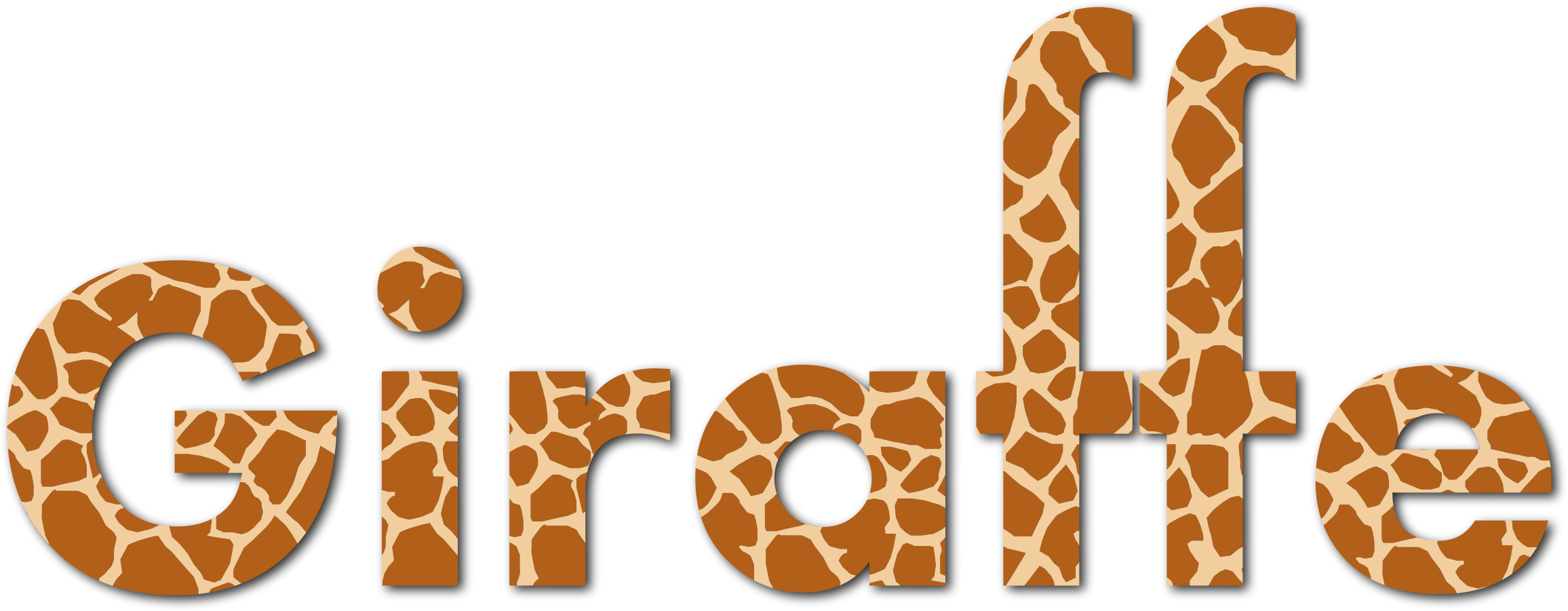 Giraffe Typography With Drop Shadow by GDJ