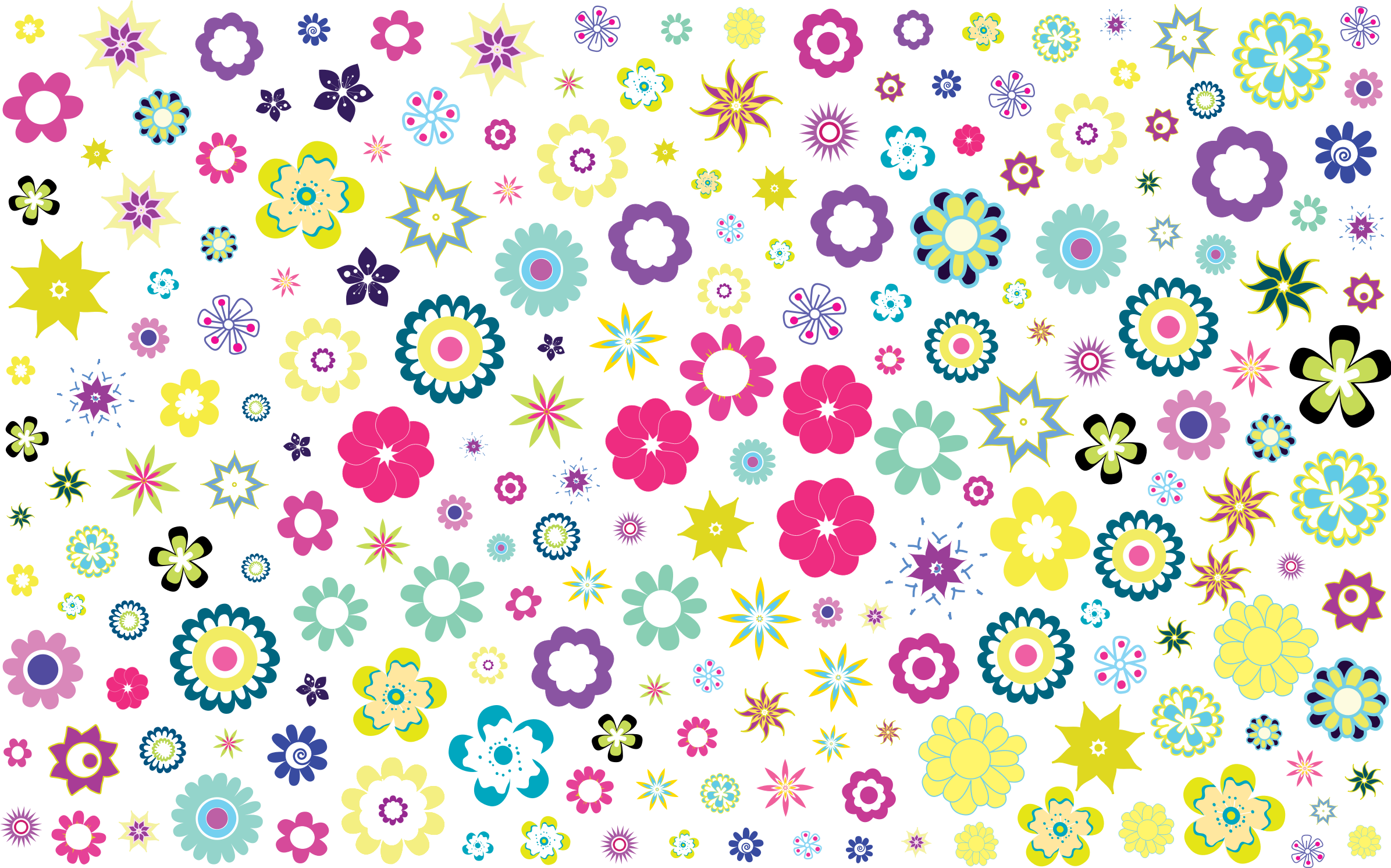 Colorful Floral Background No Black